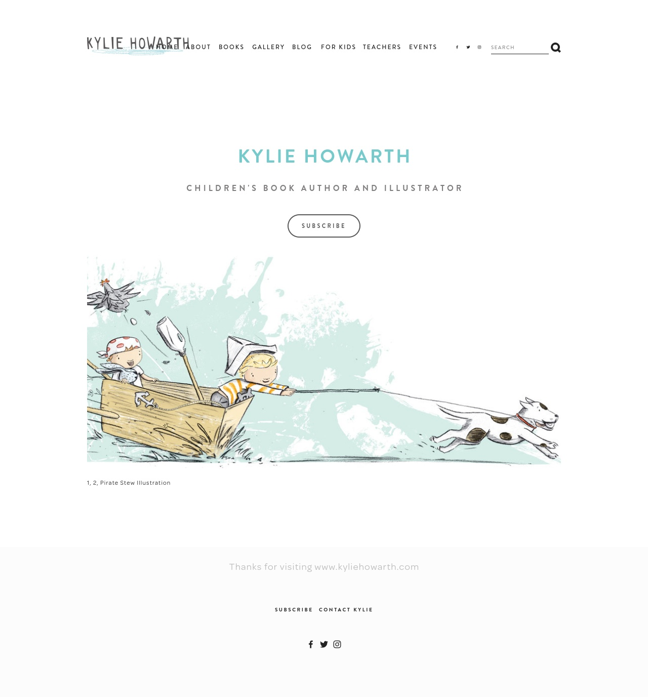 Kylie Howarth website home page