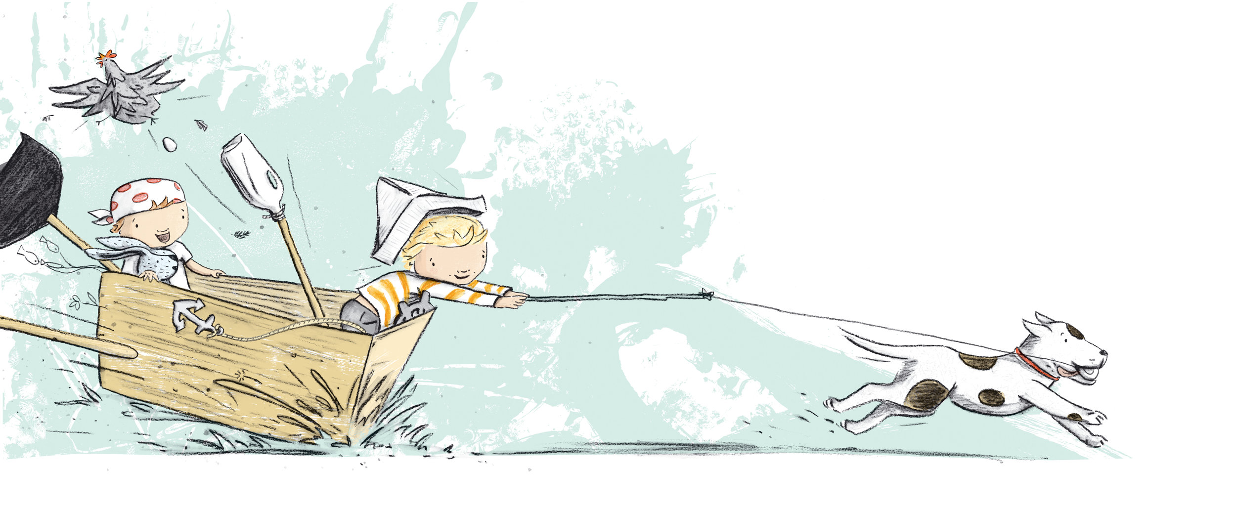 7, 8, he took the bait! - Illustration by Kylie Howarth