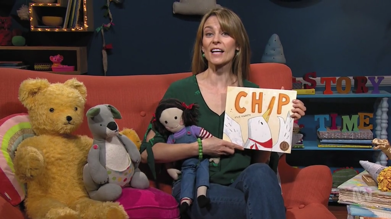Kat Stewart reading Chip by Kylie Howarth on Play School Story Time
