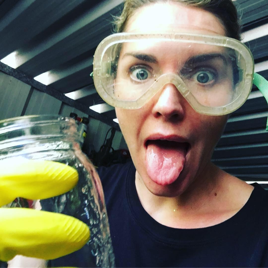Mad scientist, safety gear