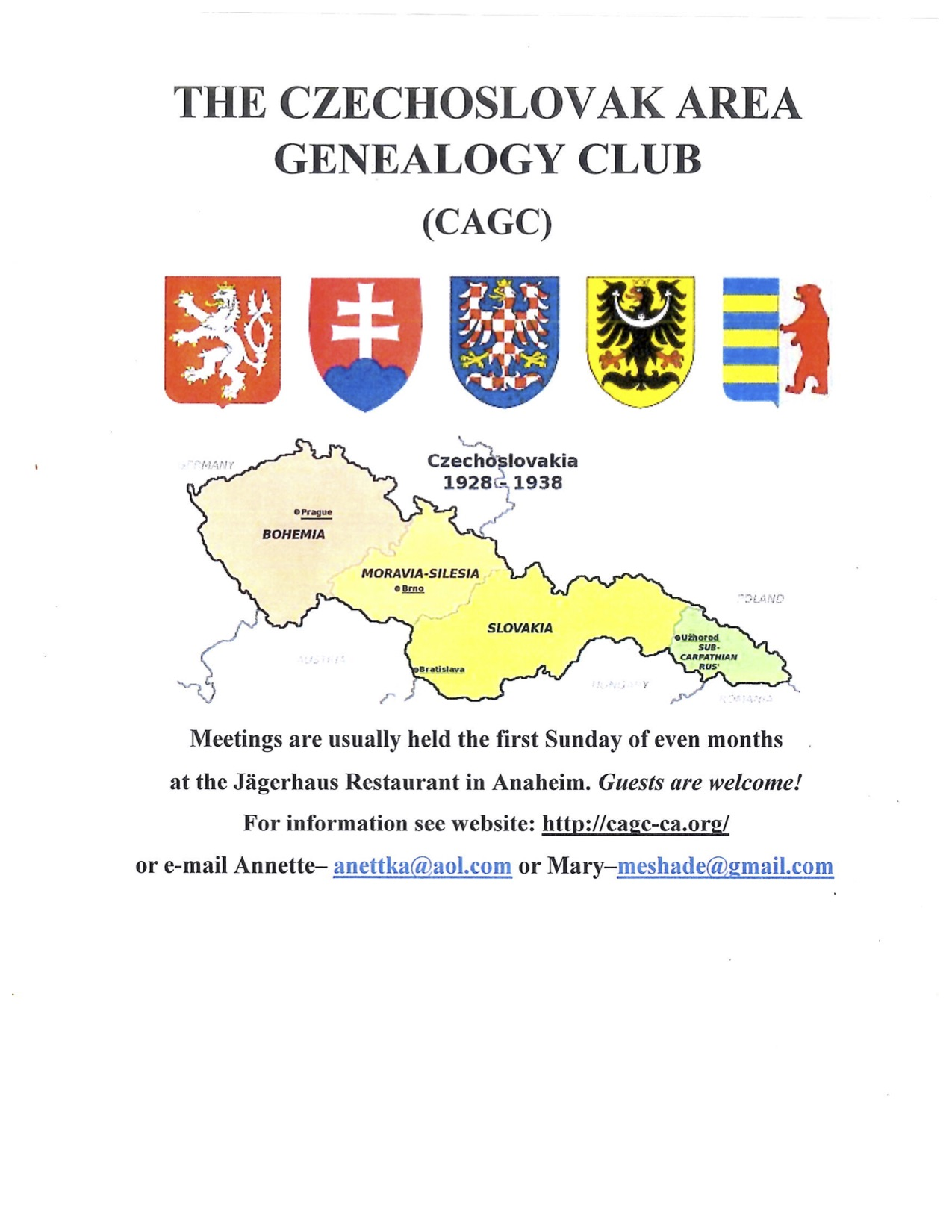 Genealogy — House of Czech & Slovak Republics