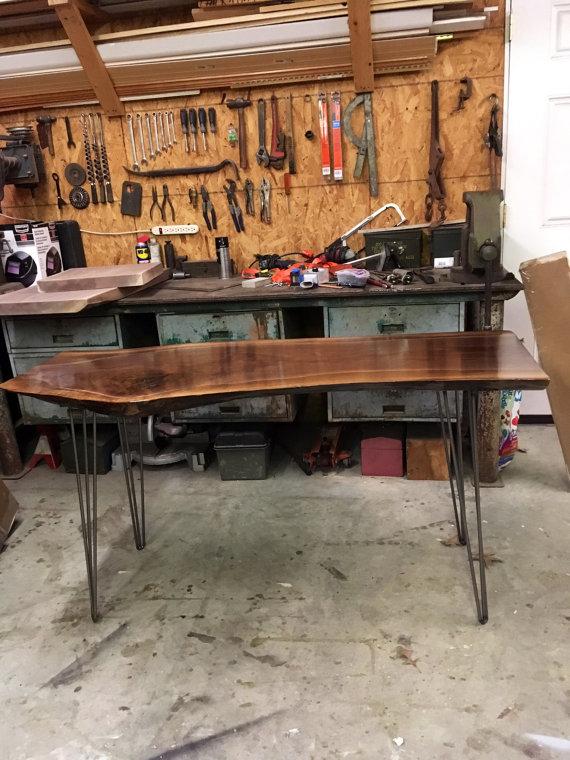 Custom Live Edge Walnut Desk