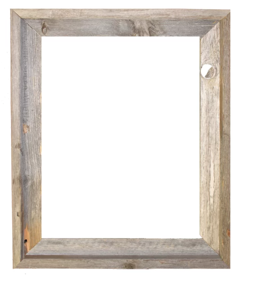 Banjo Rustic Reclaimed Barn Wood Open Picture Frame