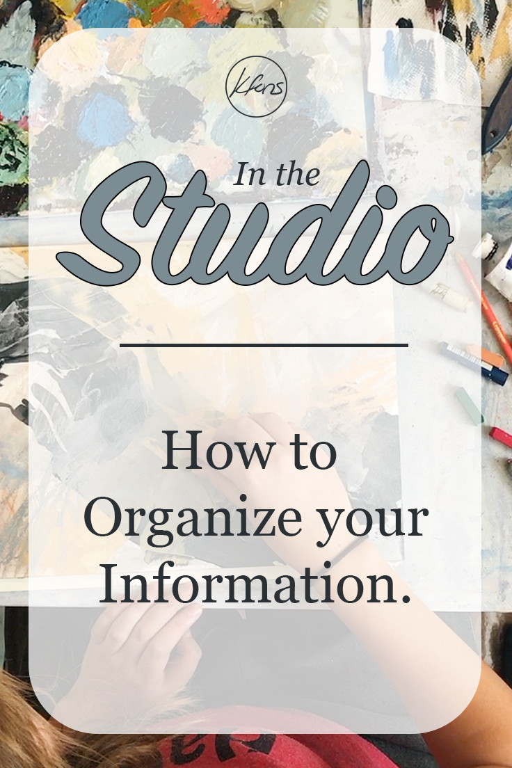 In the Studio: Organizing you Information