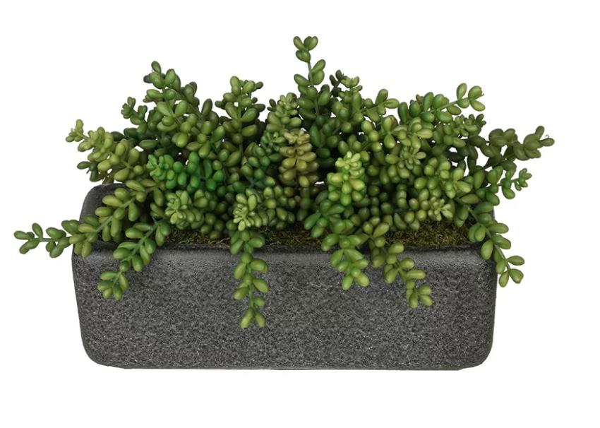 Artificial Sedum Plant in Planter