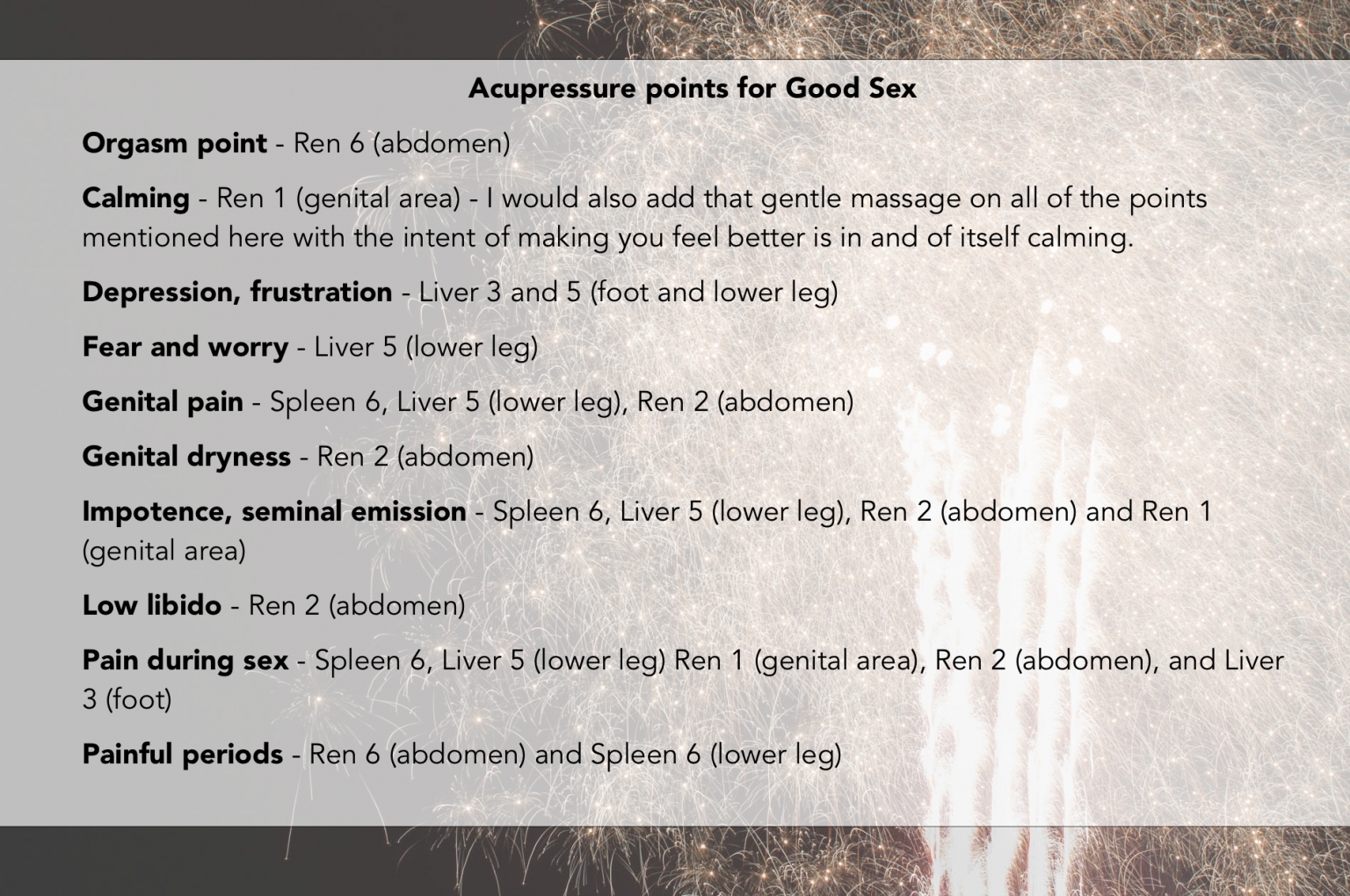 Points on the body pressure sexual 8 Erogenous