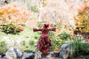 "Denise doing yoga pose ""Wizard 2"". (Photo by Chloe Jackman Photography)"