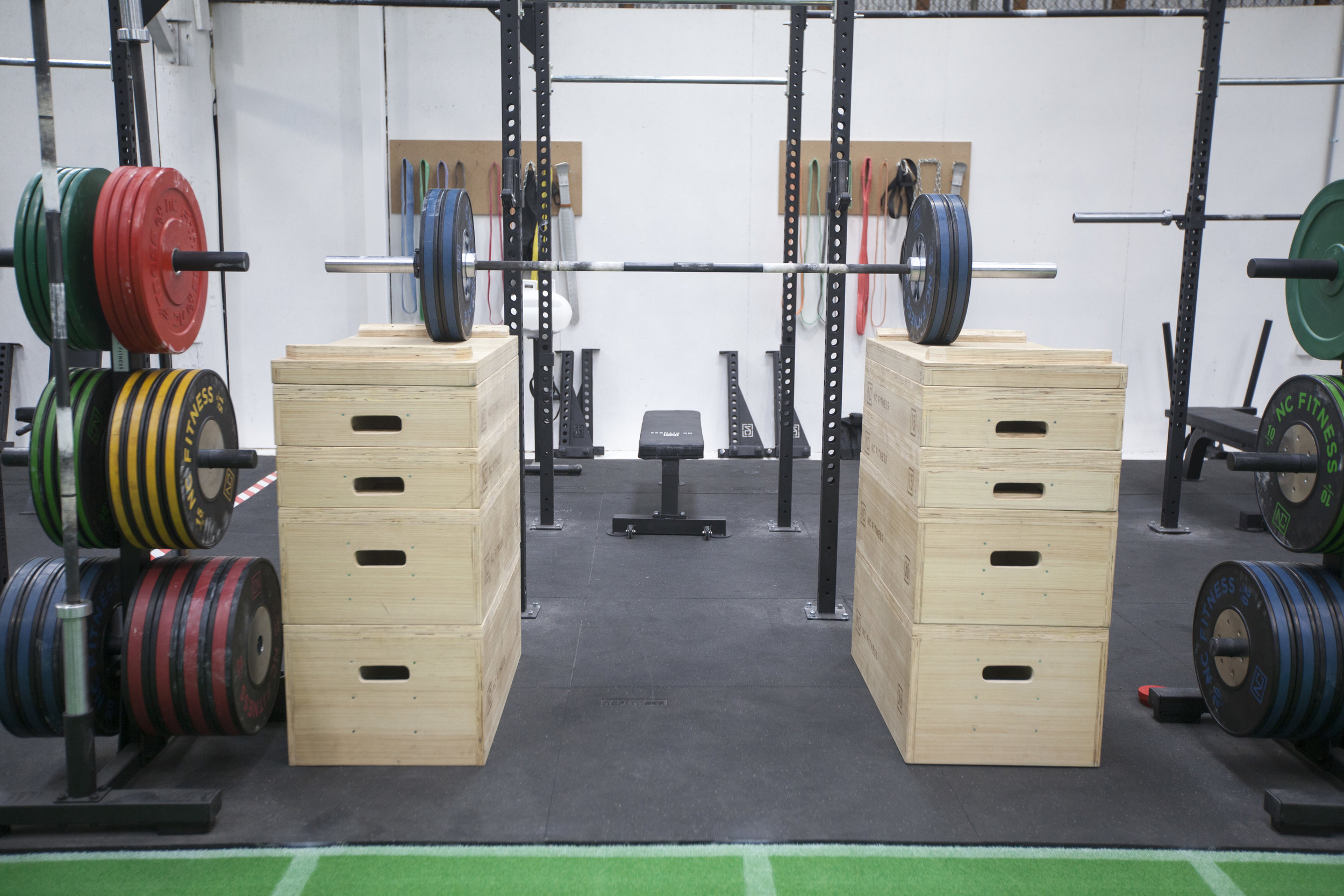 jerk boxes stacked