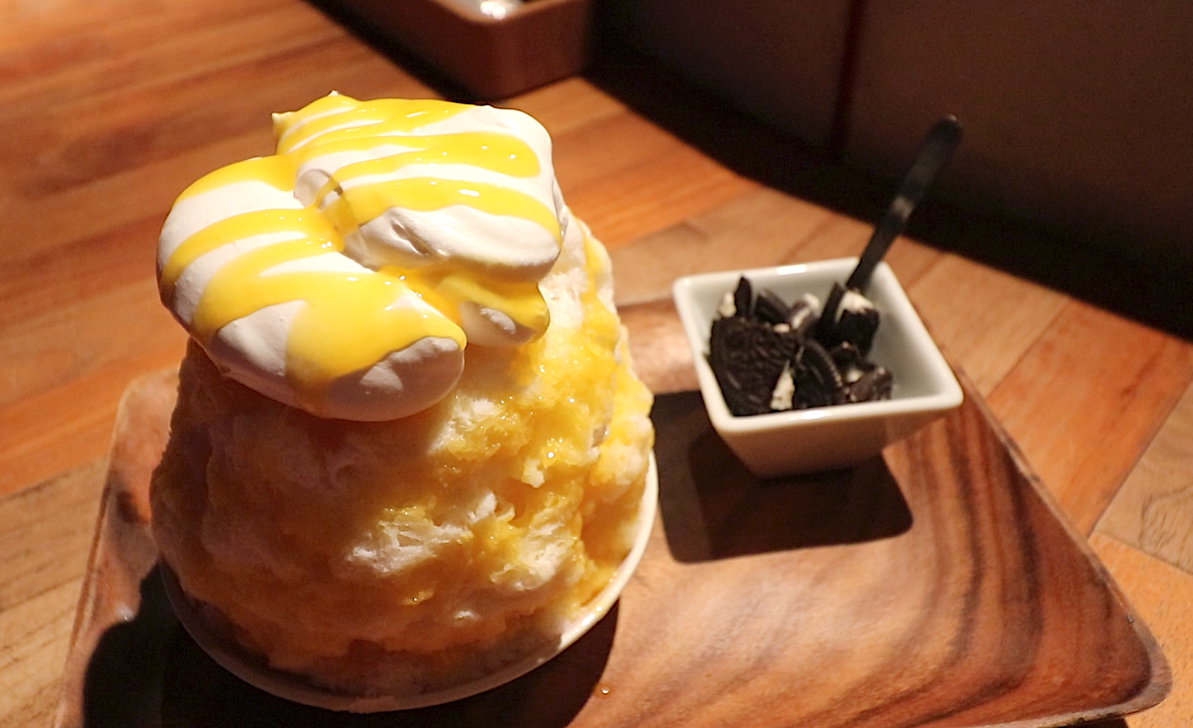 Mango Deluxe Shaved Ice at Yelo