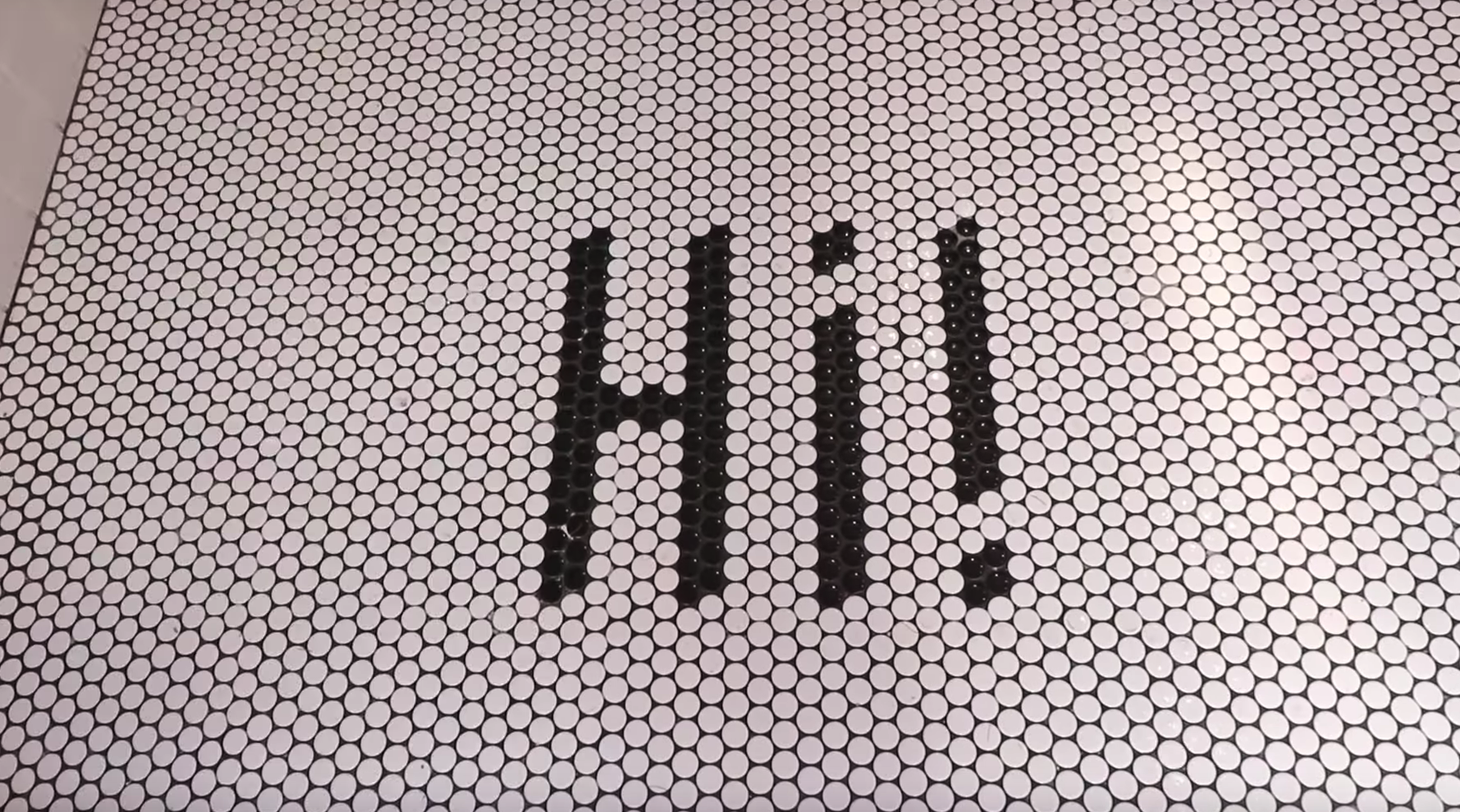 Instagramy entrance tile!