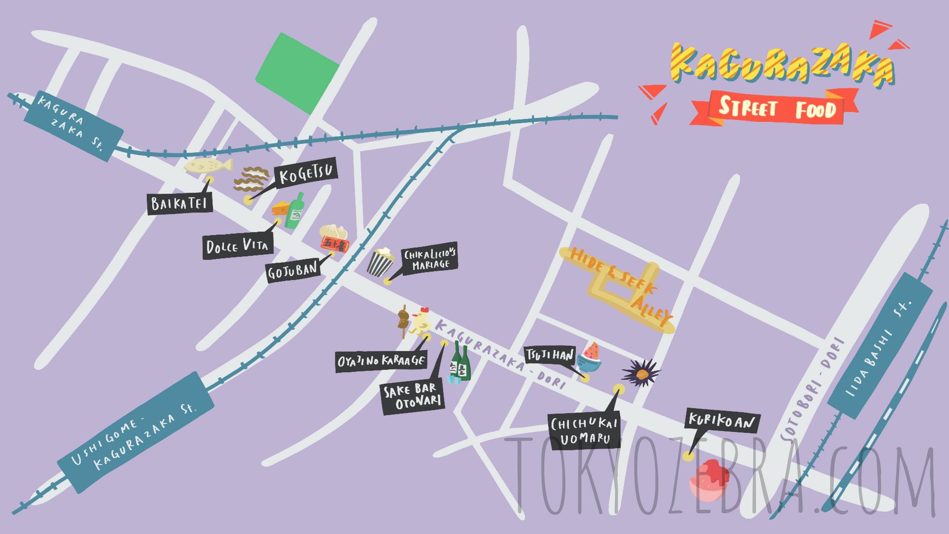 KAGURAZAKA MAP -