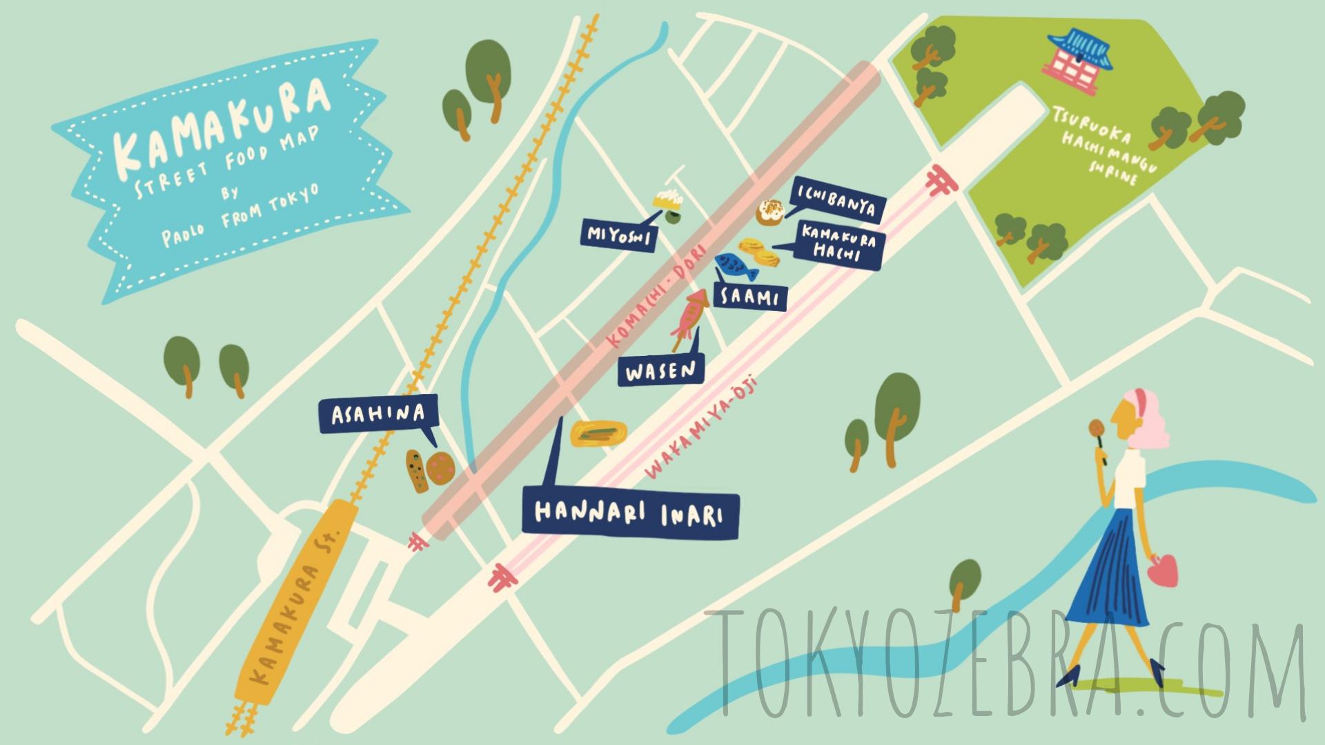 Kamakura Street Food Map -