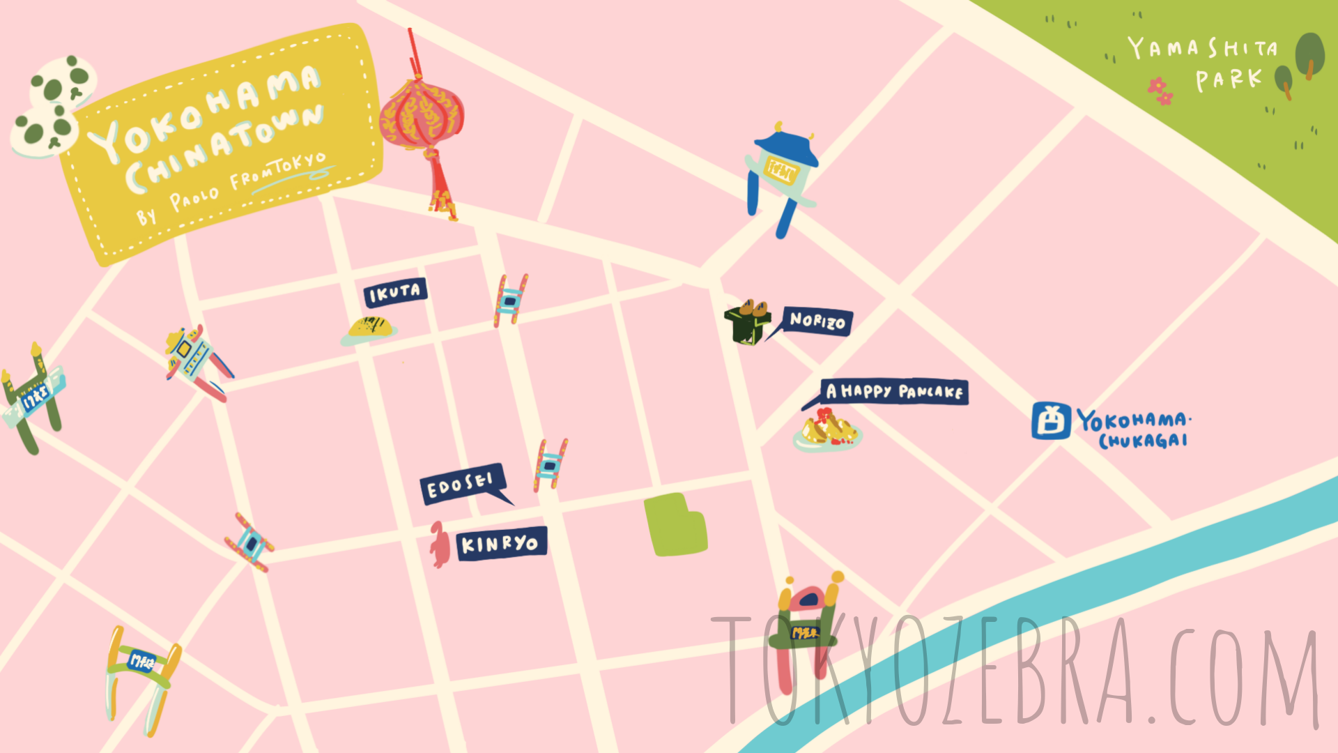 Yokohama Chinatown Map -