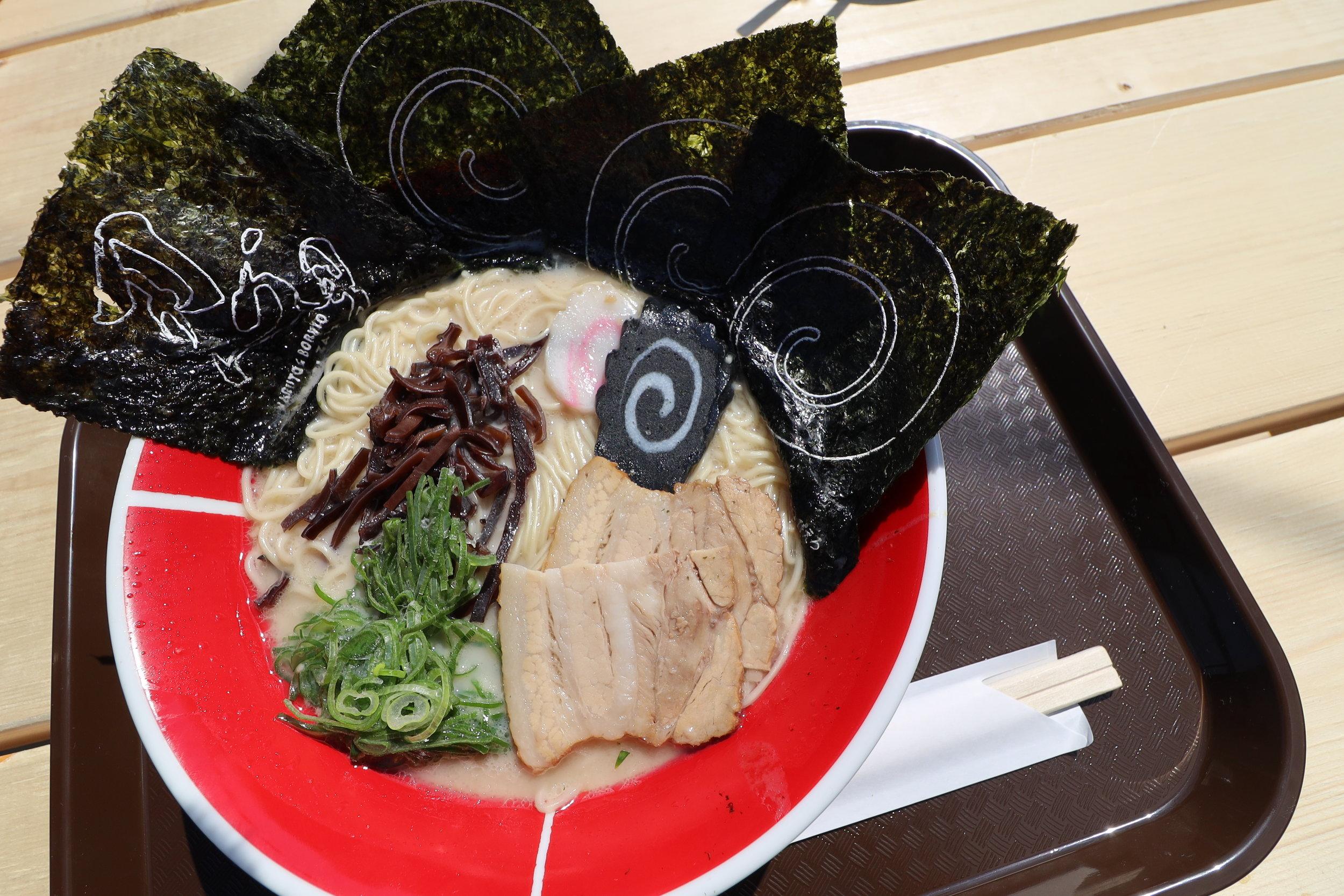 Tonkotsu ramen with extra seaweed toppings