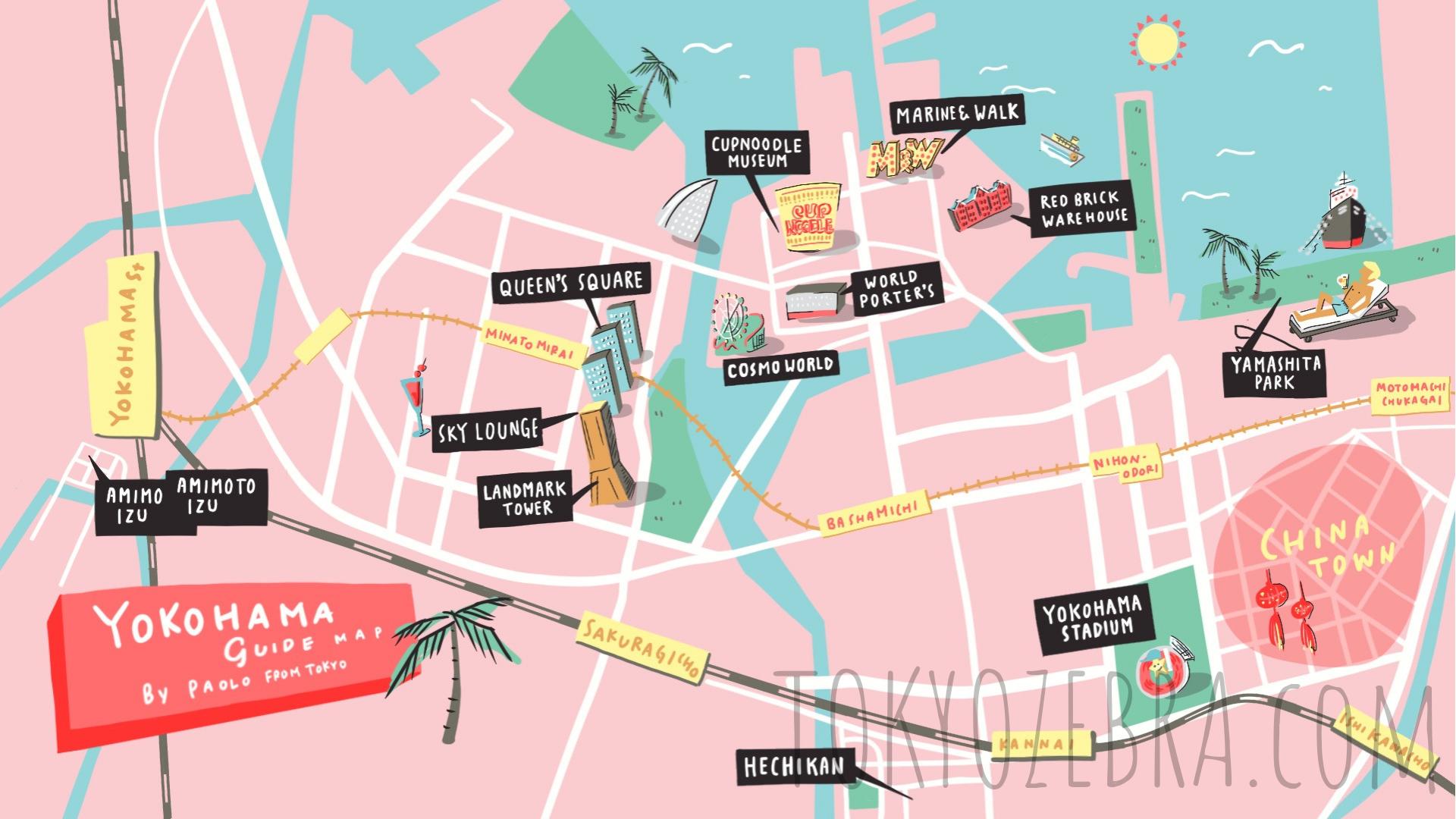 Tokyo Maps seen on Paolo fromTOKYO — Tokyo Zebra