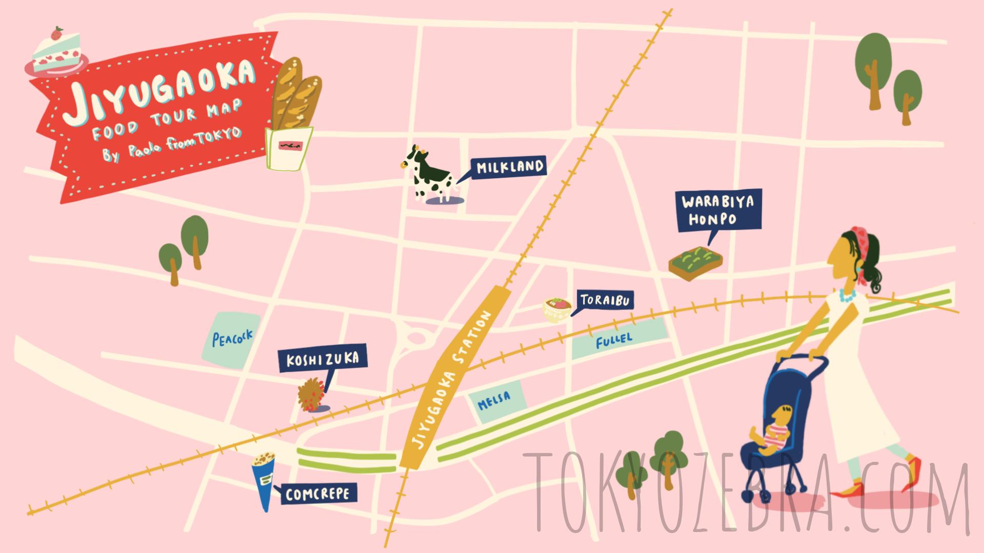 Jiyugaoka Map -