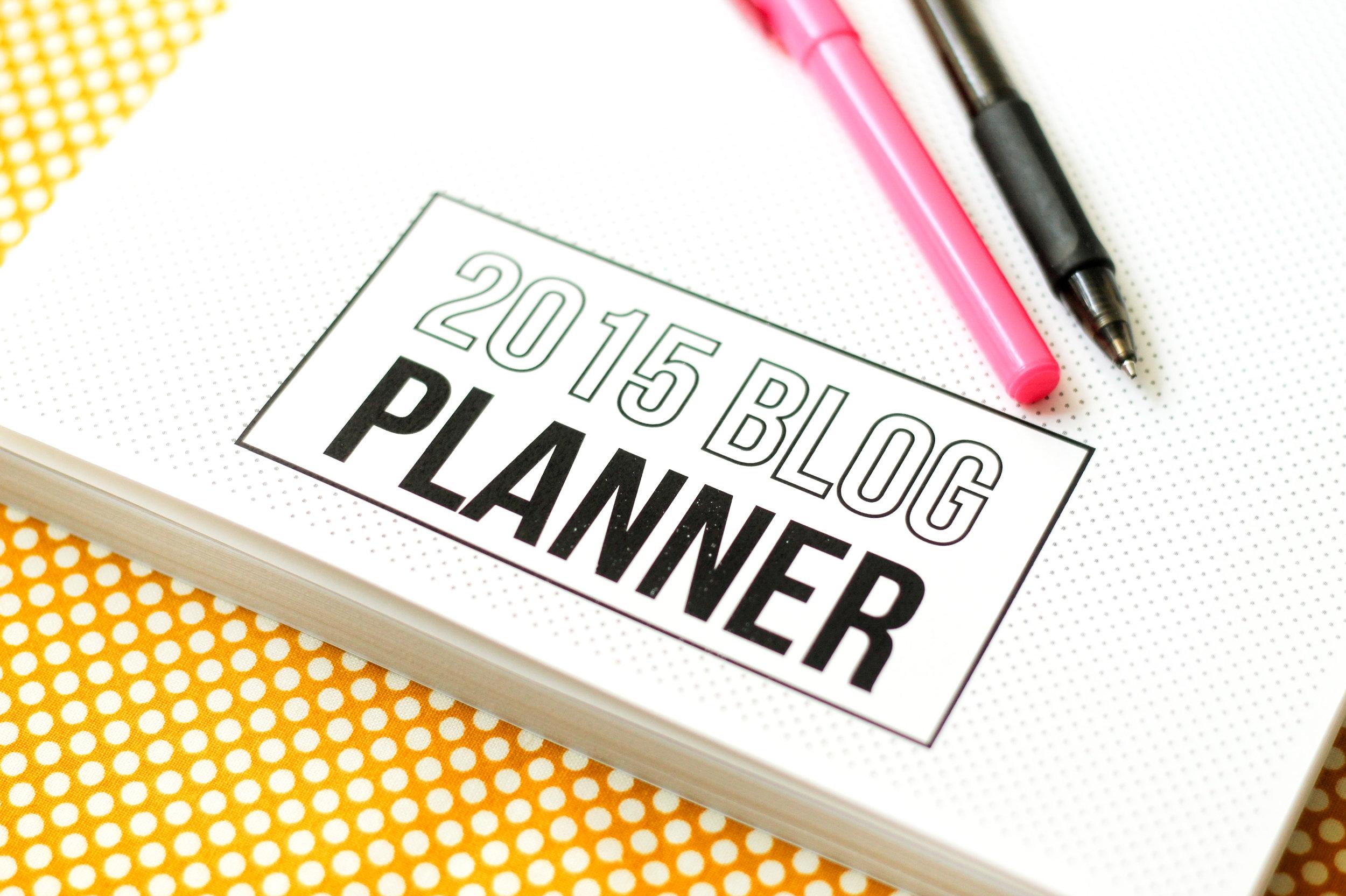 2015 Blog Planner and Editorial Calendar