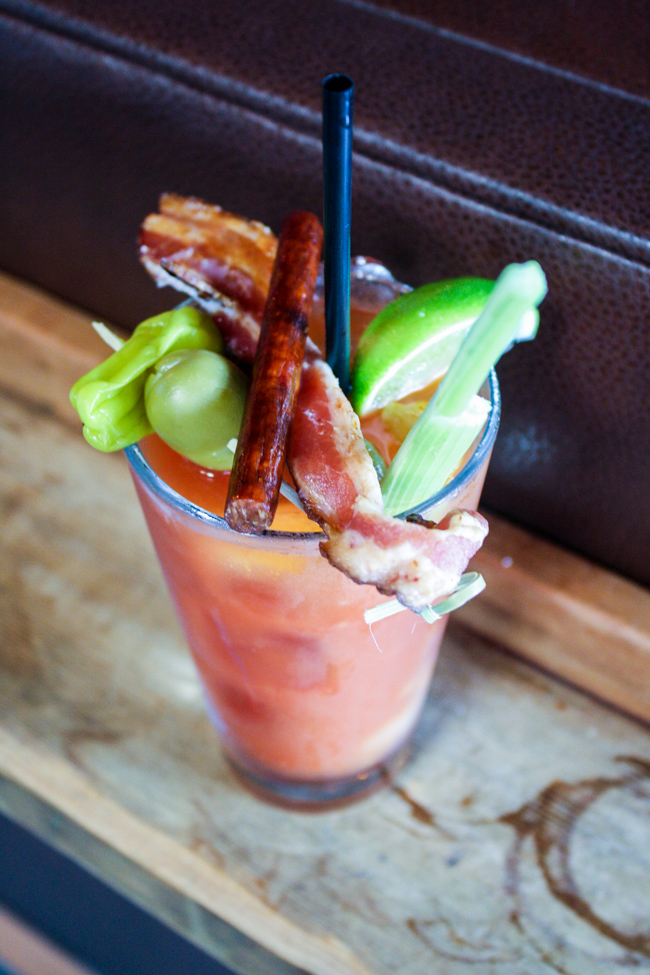 Build Your Own Bloody Mary at Brick + Mortar, Santa Monica, CA