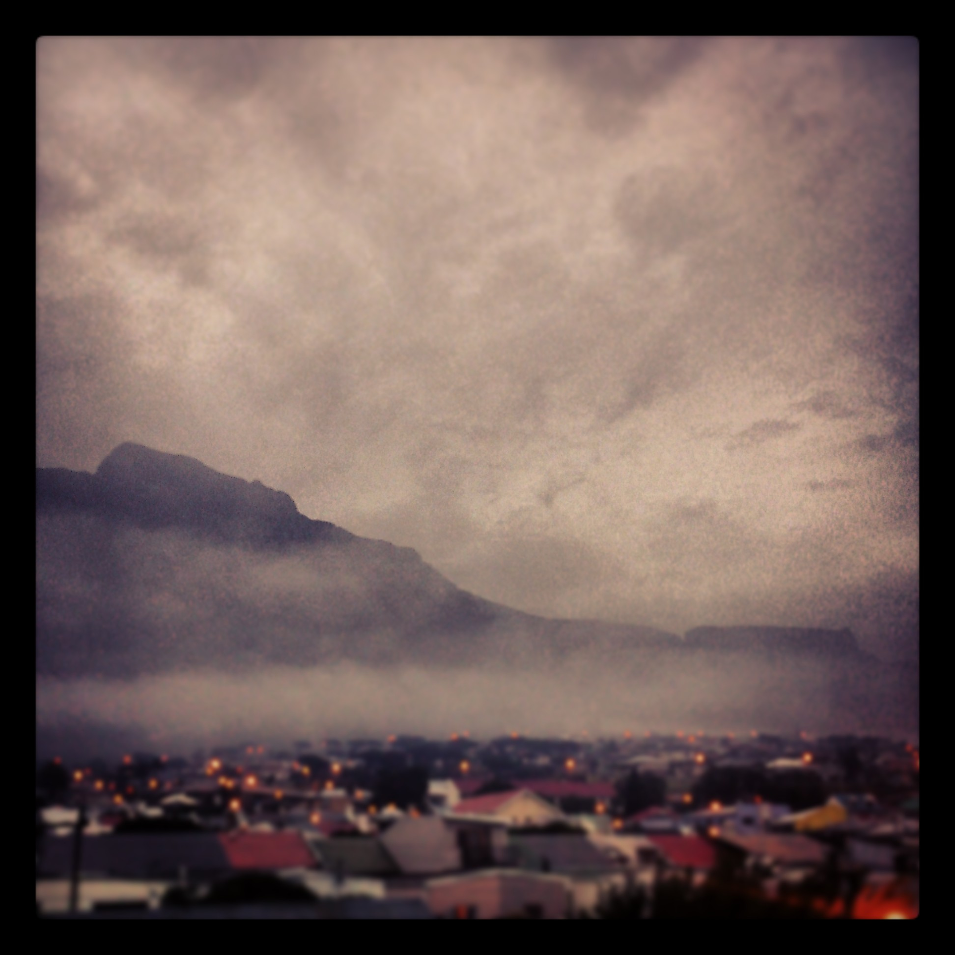 An unseasonable morning in Cape Town - December 2014.  Instagram image shot on Sony Experia M
