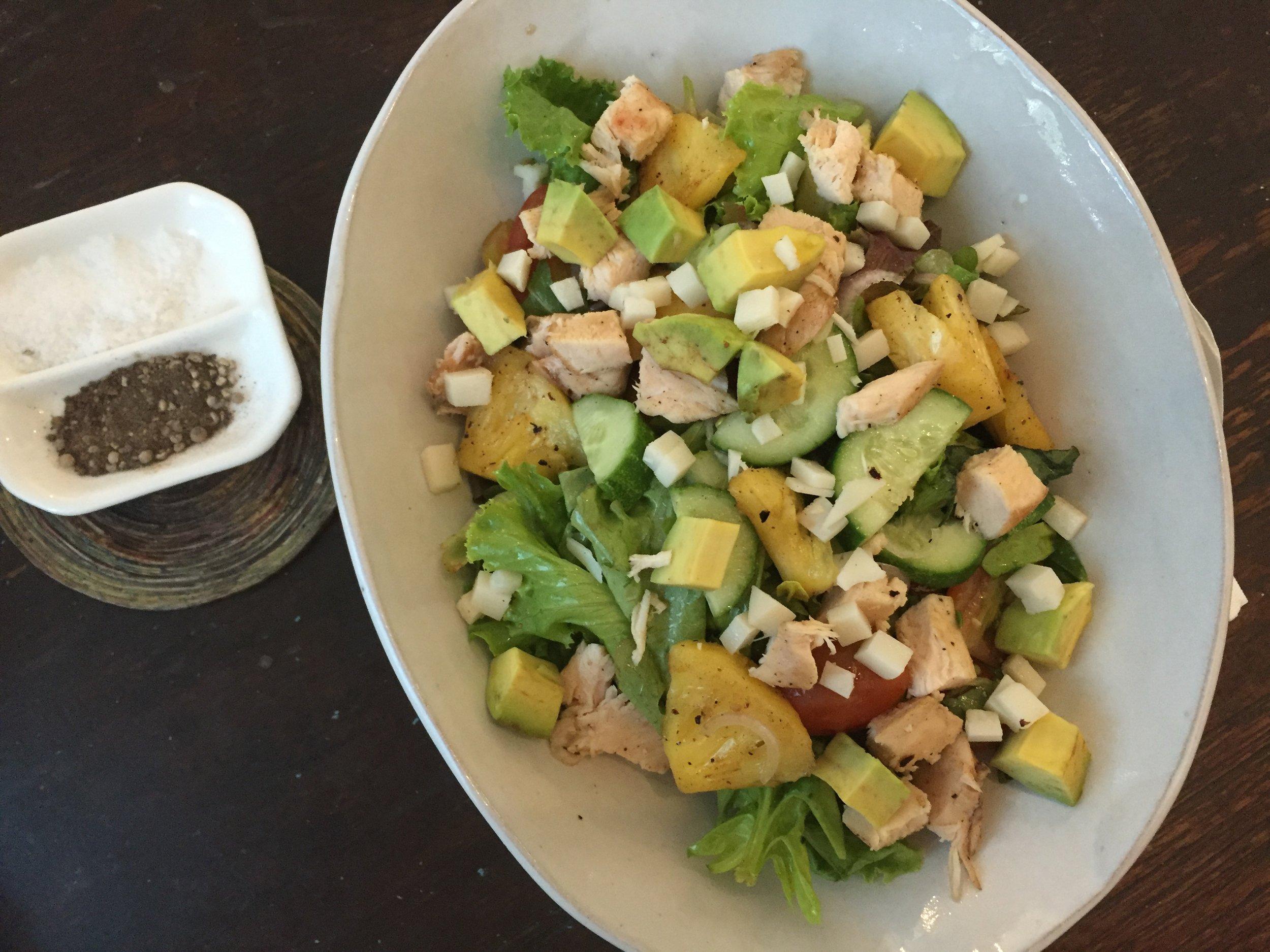 Honey chicken salad at Artillery