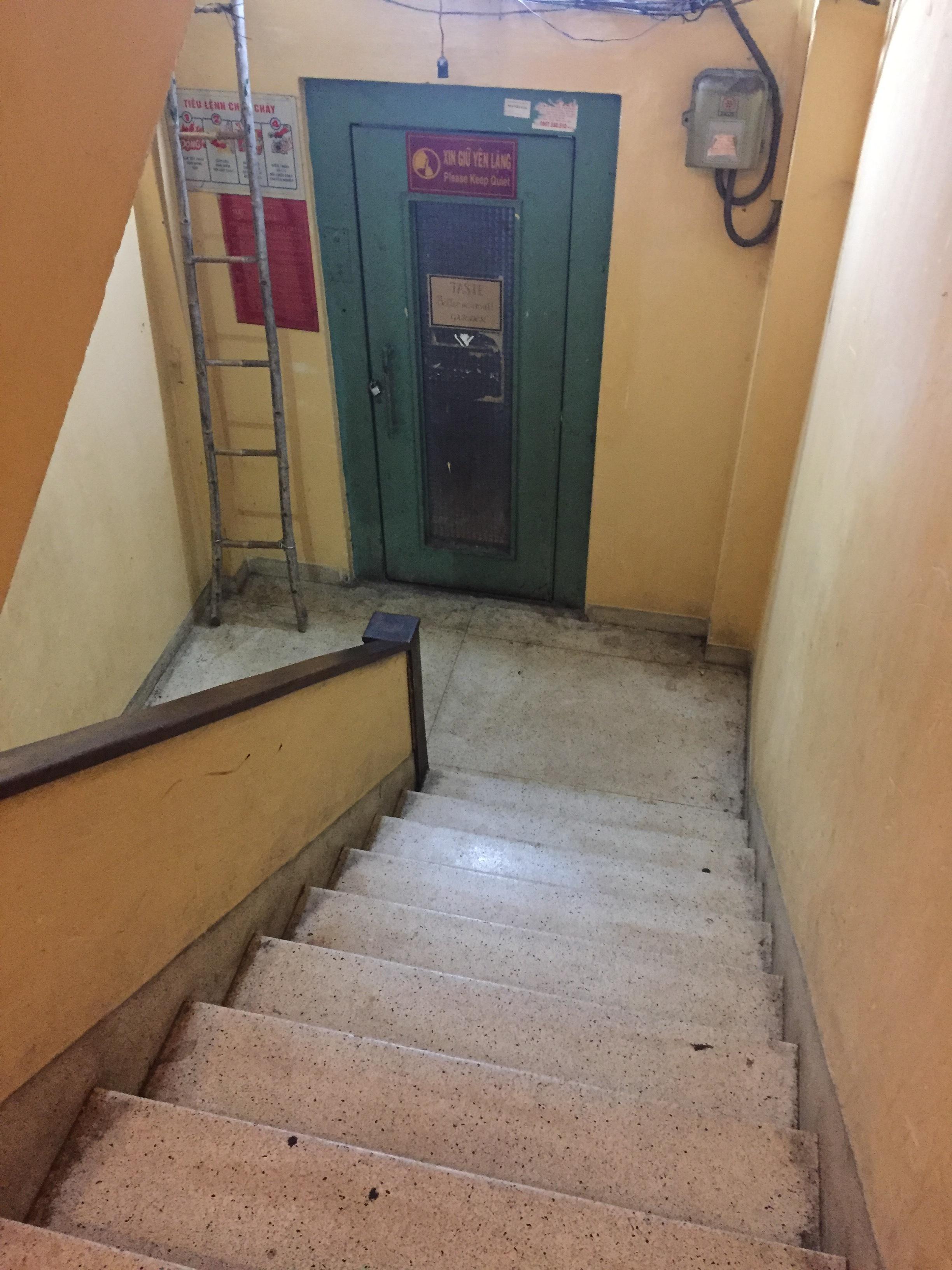 Standard hidden staircase to hidden gems