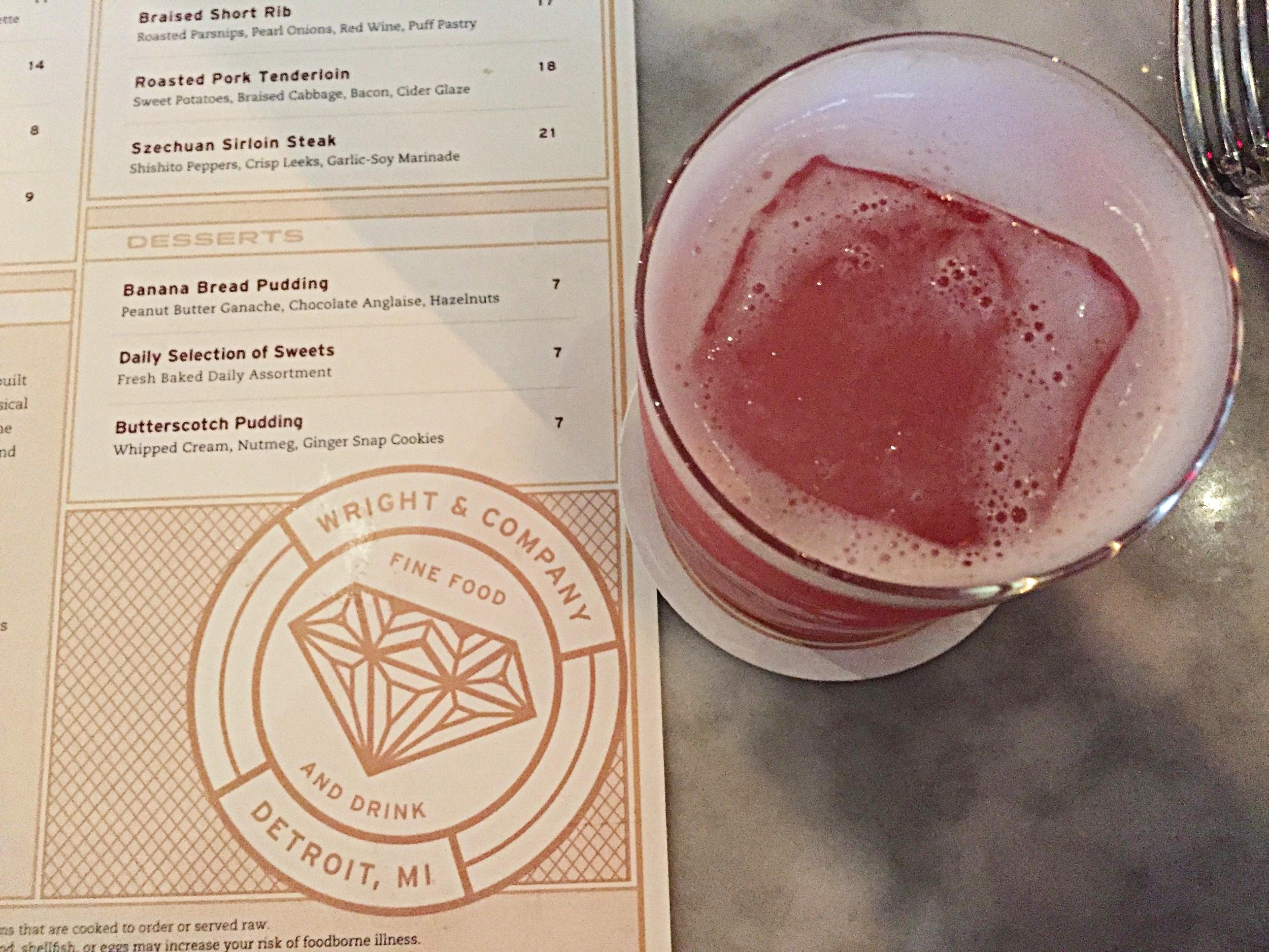 Hibiscus Sour cocktail