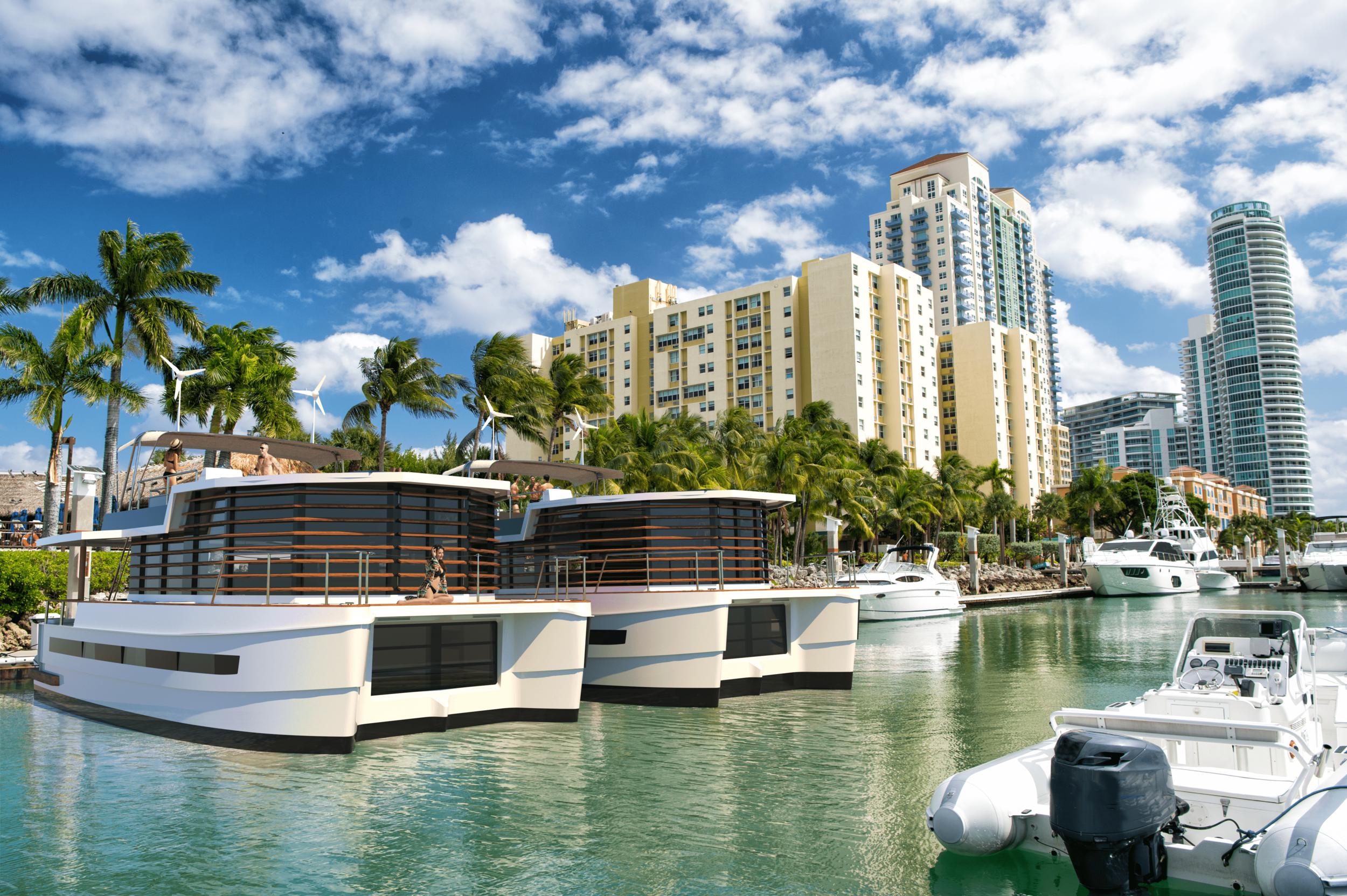 Live in the most prestigious marinas - Miami