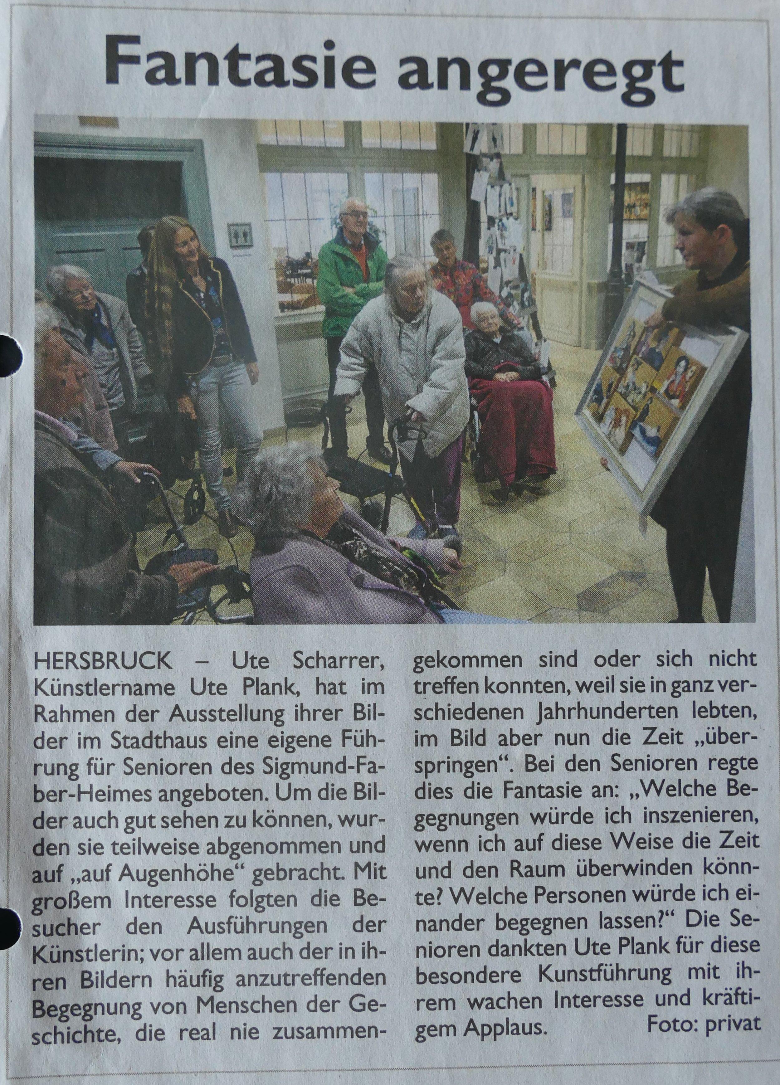 Bericht in der HZ: Dr. Abt,Sigmund-Faber-Heim, Hersbruck