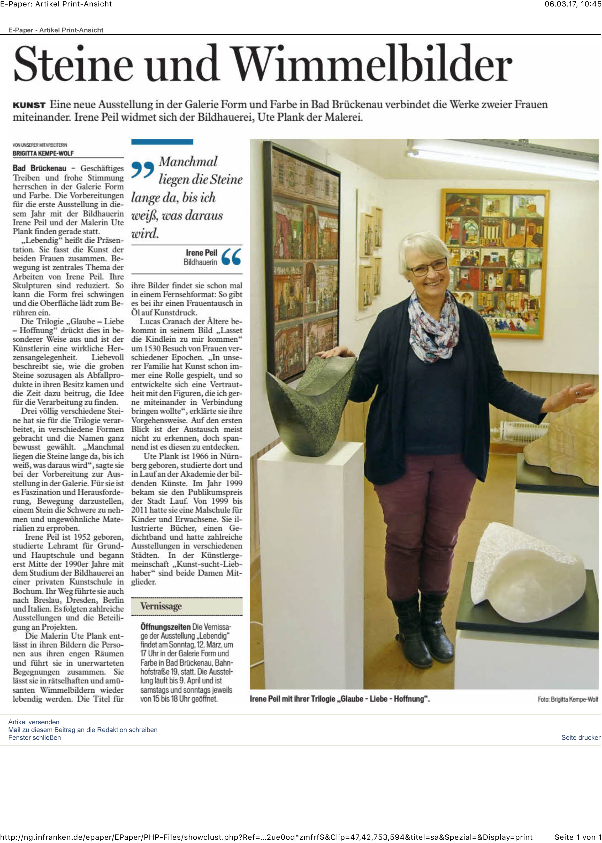 Bild und Bericht Brigitta Kempe-Wolf, Bad Brückenau, 6. März 2017