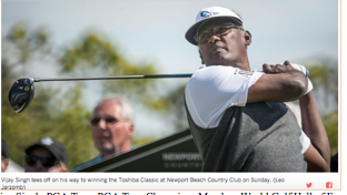 Vijay Singh, PGA Tour, PGA Tour Champions Member, World Golf Hall of Fame