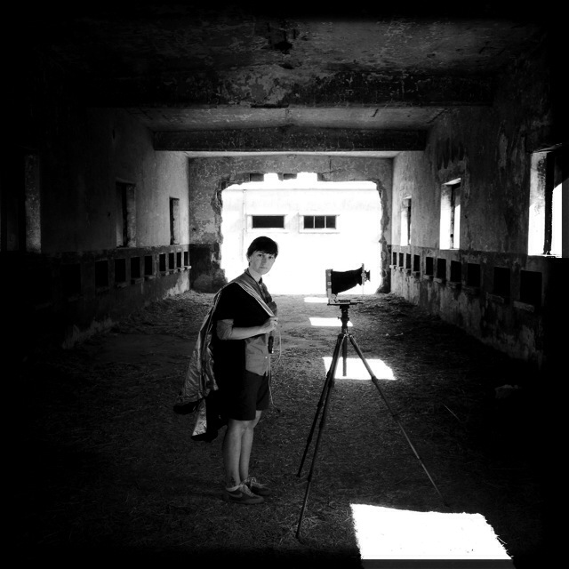 © Giulia Bianchi   Giulia at work with her view camera.