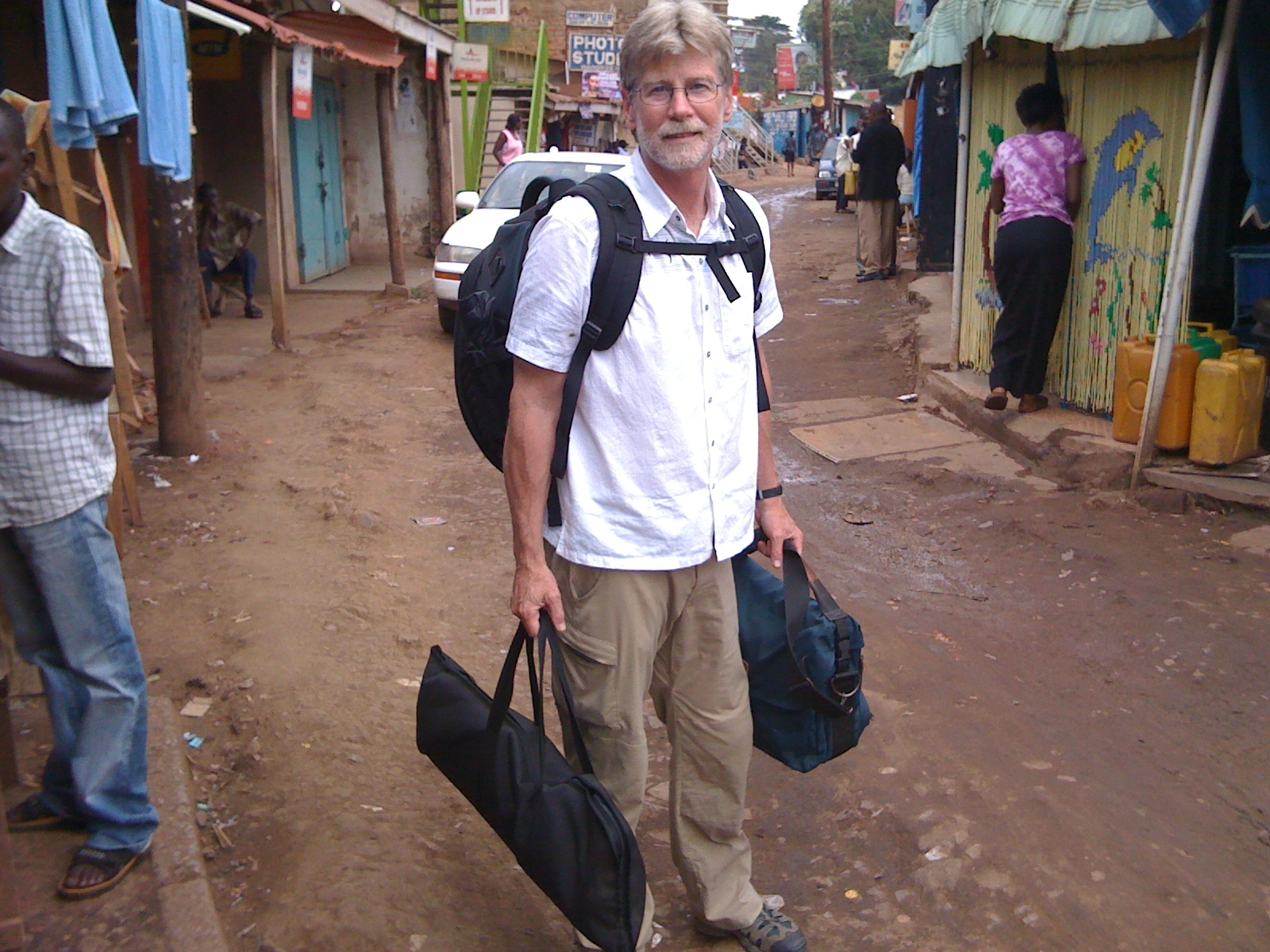 Filming in Kampala, Uganda
