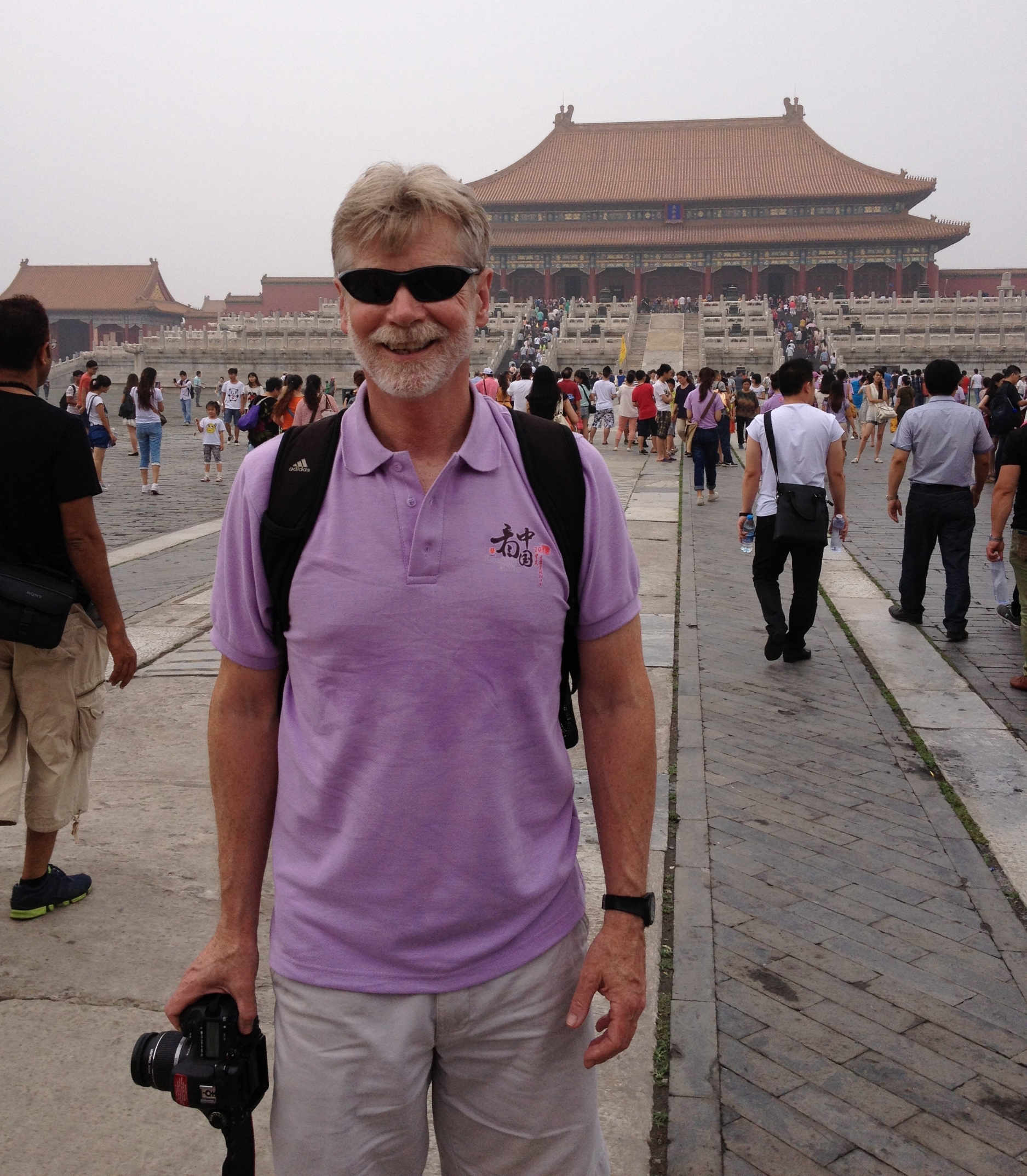 Sam Kauffmann in Beijing, China, as faculty advisor to nine BU film students, as part of the 2013  Looking China  cultural exchange program.