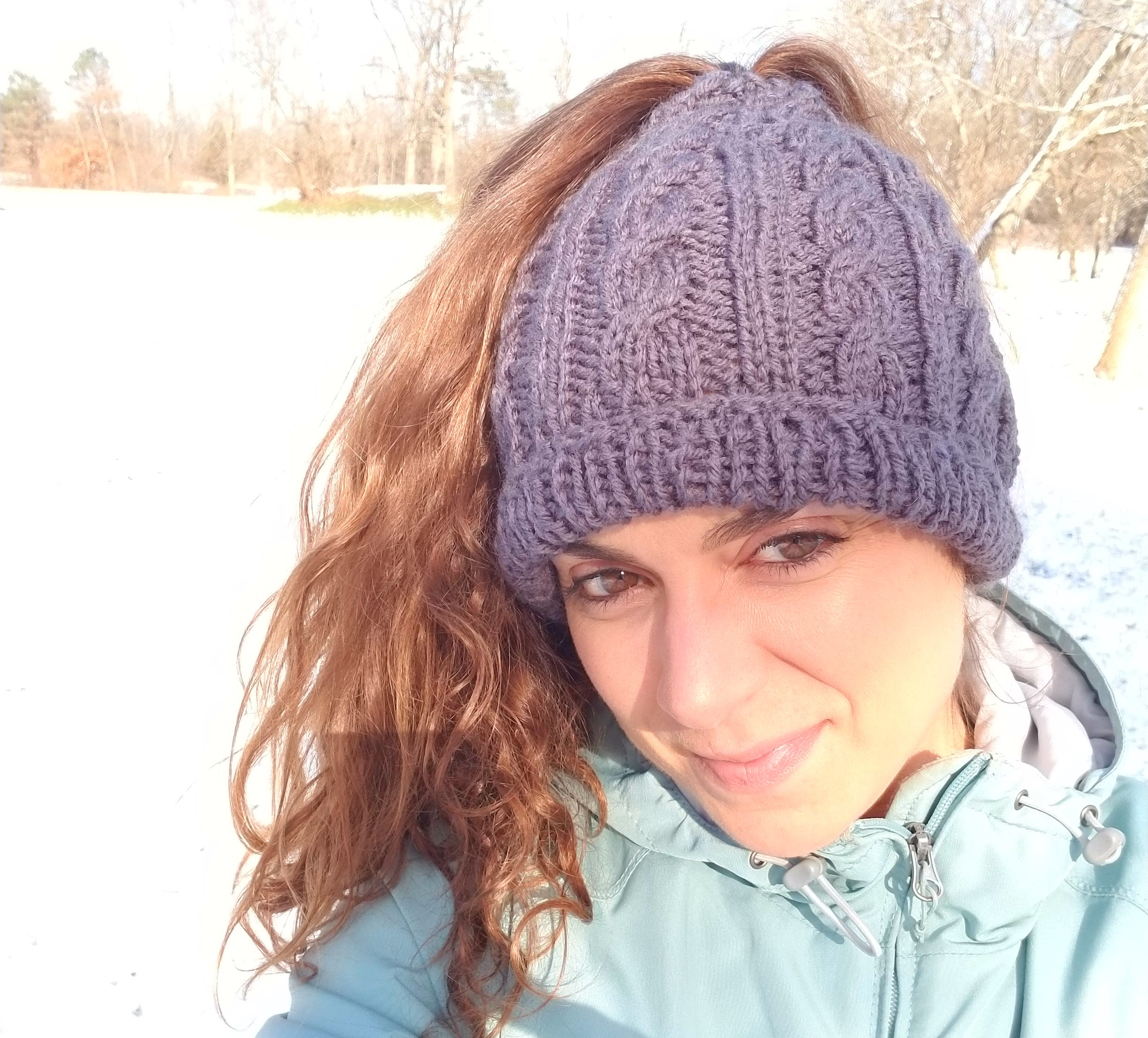 Bundle up baby! Exercising outside is better - even in winter! Just dress right…and get a super-cute pony-hat from a talented local artisan!