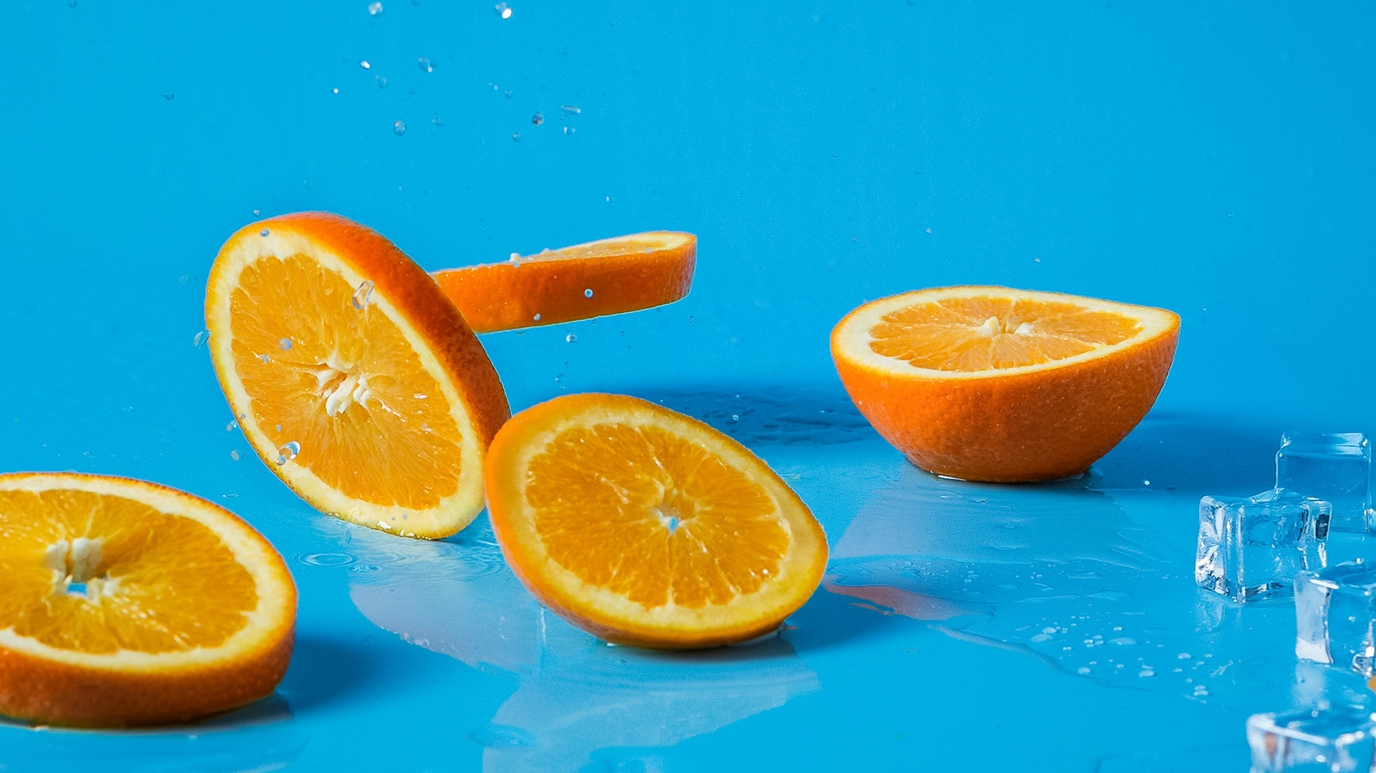 There are roughly 60 calories in an orange. You'd have to eat about 58 oranges to gain a pound. When was the last time you ate 58 oranges? Photo Credit: Mae Mue