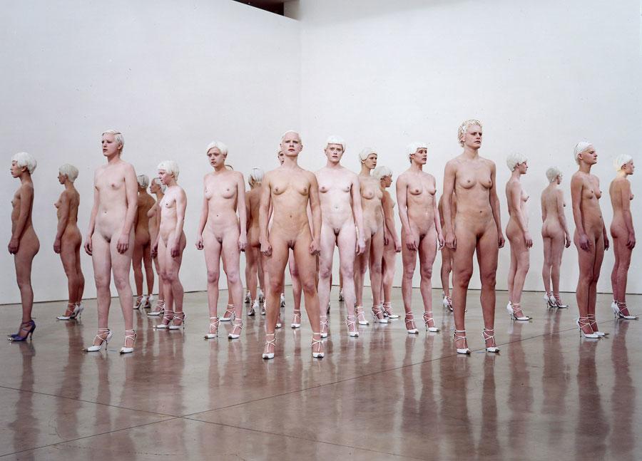 Vanessa Beecroft, VB46  at the Gagosian Gallery, Los Angeles, 2011.©Dusan Reljin