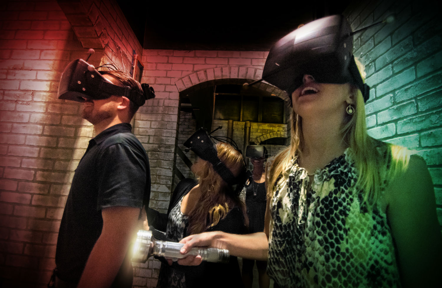 "Guests experiencing ""The Repository"" at Universal Studios Haloween Horror Nights"