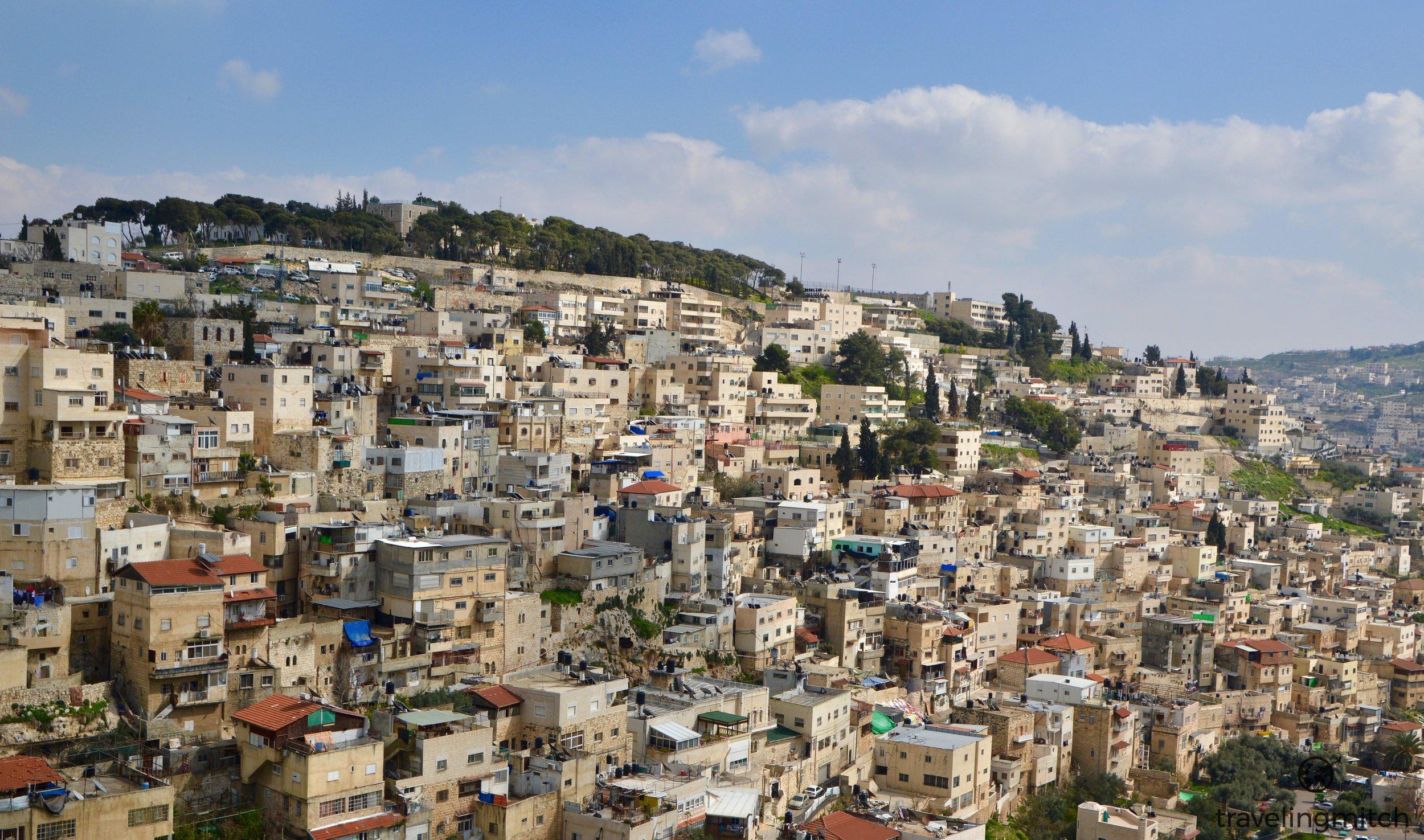 Views of East Jerusalem (Silwan) from the City of David - Jerusalem, Israel