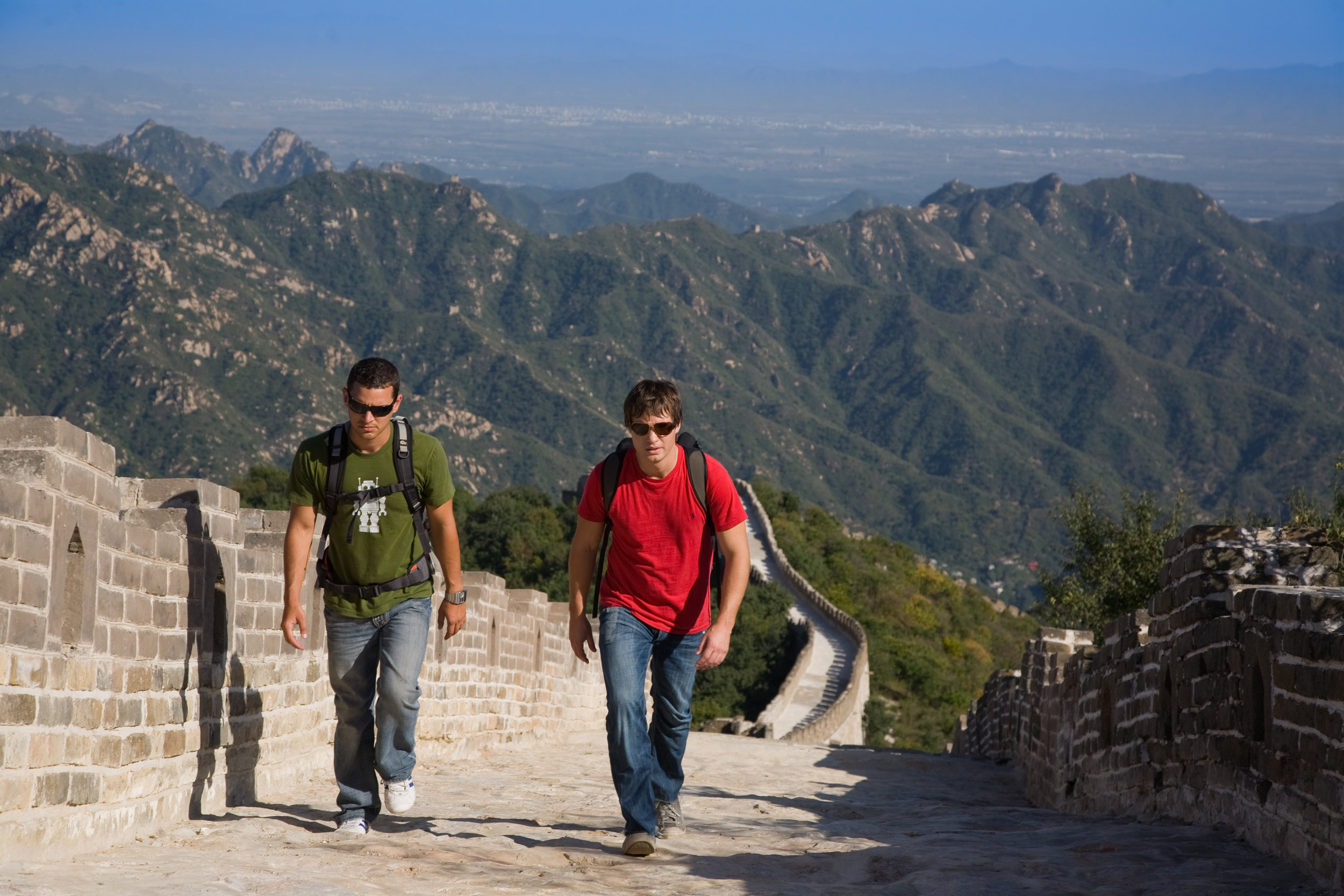 Scott Wilson and Justin Lukach - Departures - Great Wall of China