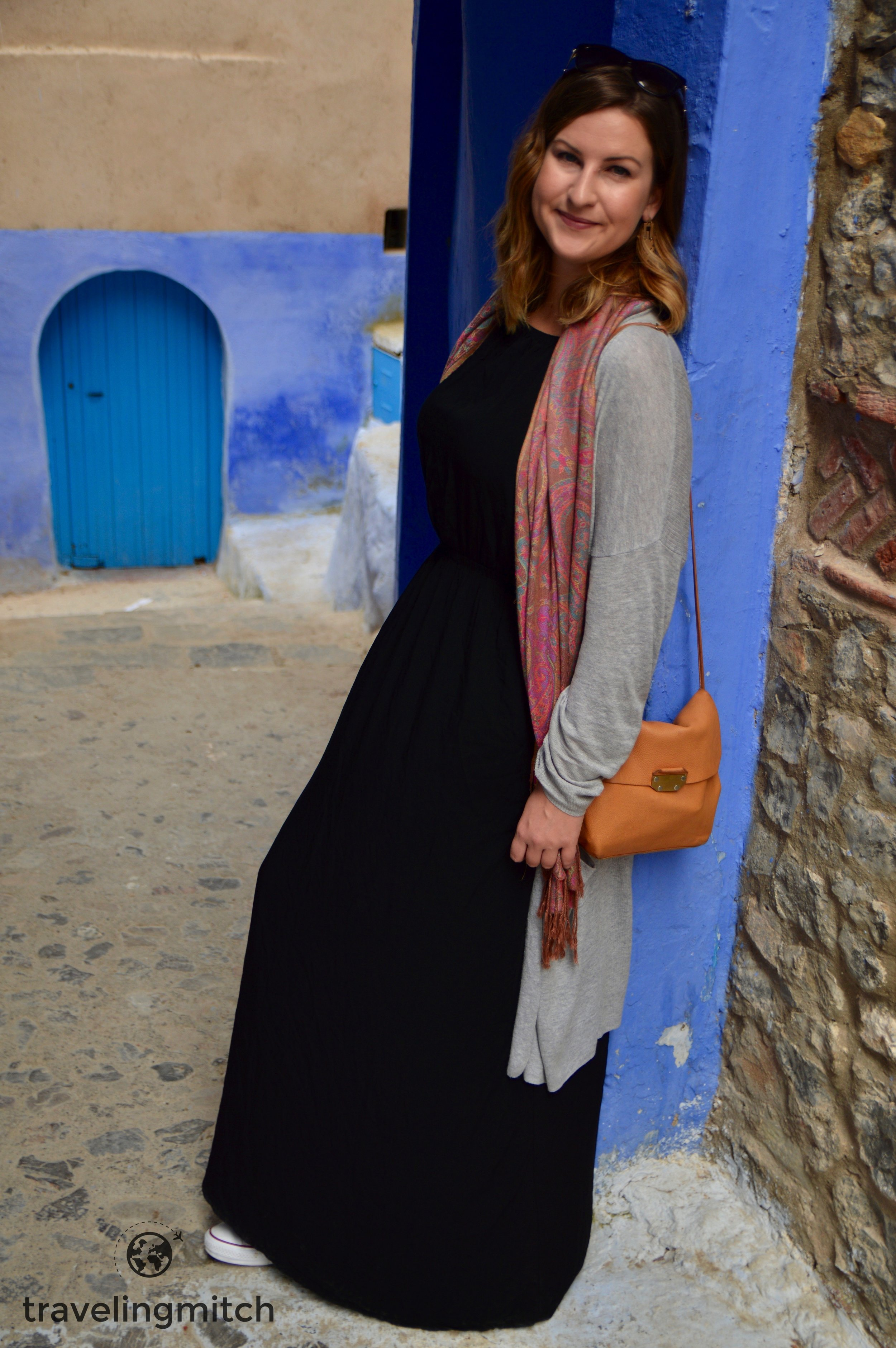 "Bri in Chefchaouen, Morocco - ""The Blue City"""