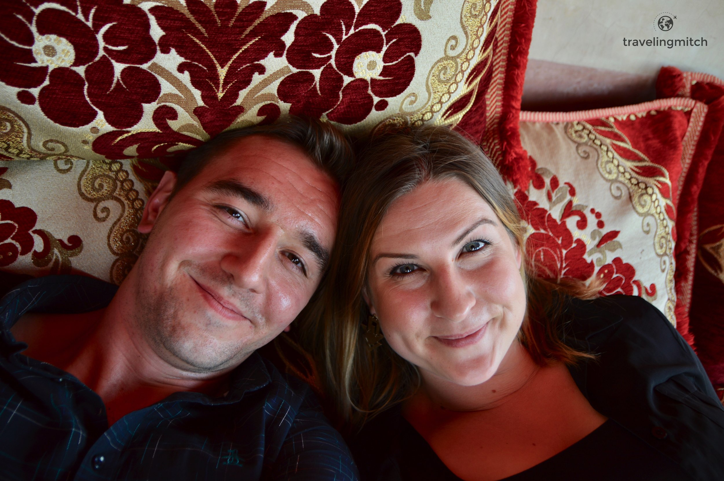 Bri and I on The roof terrace at Riad Anayela in Marrekesh, Morocco
