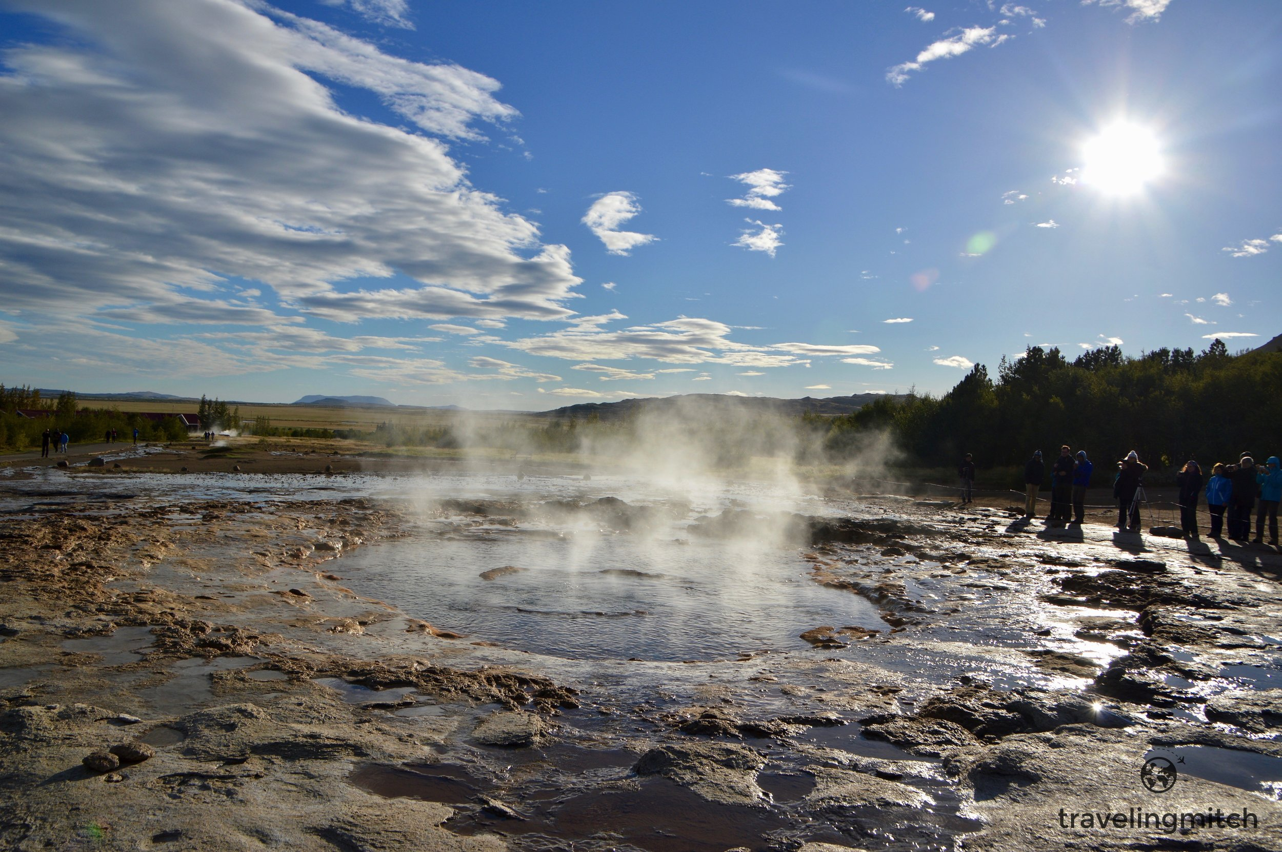 Strokkur Geyser on the Golden Circle. You just know the White Witch bathes here.