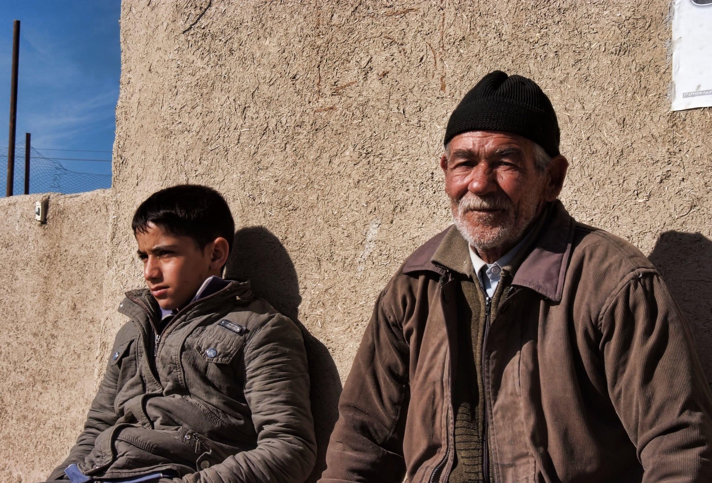 A grandfather and son Isfahan, Iran