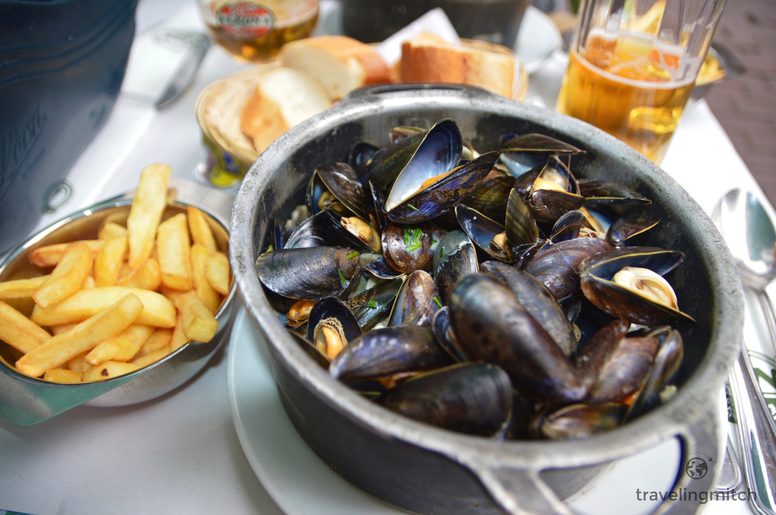 Mussels at Chez Leon in Brussels, Belgium. Delicious!