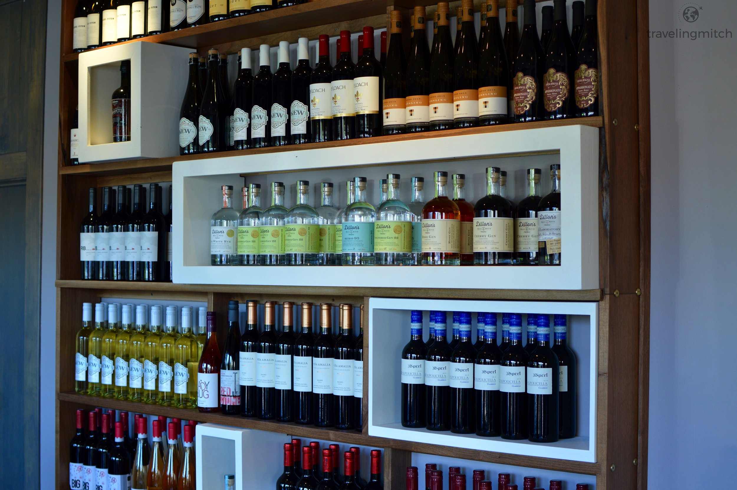 The wine and gin selection at Uxbridge's Urban Pantry