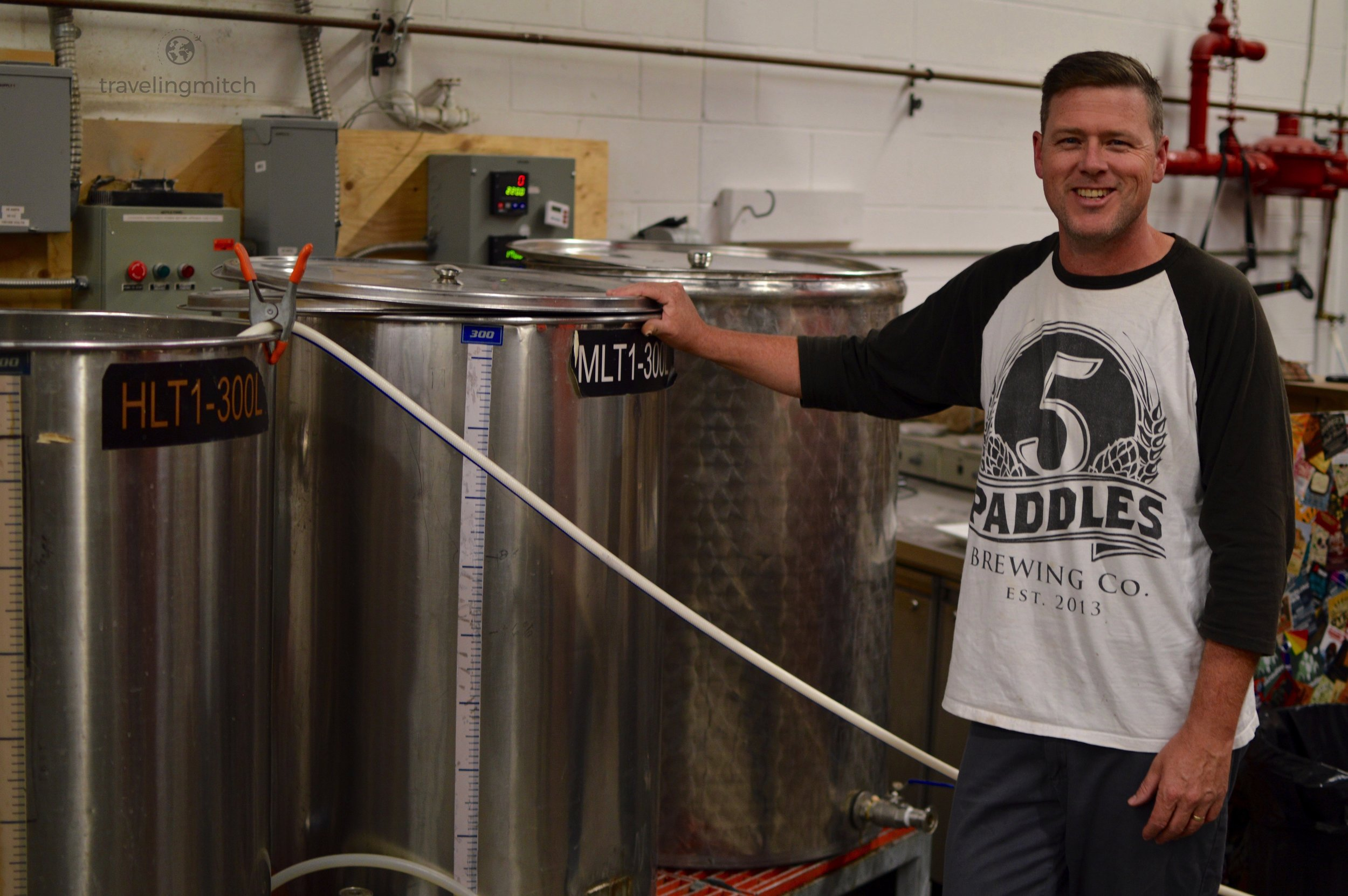 Ian Mills, one of the founders of 5 Paddles Brewing Company in Whitby