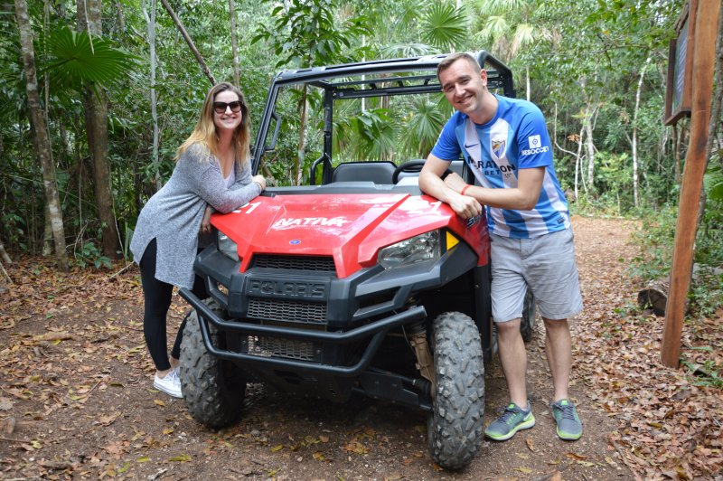 With our Polaris at the Nativa Natural Park