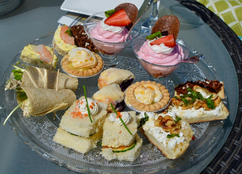 This doesn't do justice to the  actual  presentation of high tea, but you can get a sense of what's on offer. The answer is yes, it was as good as it looks like it was.