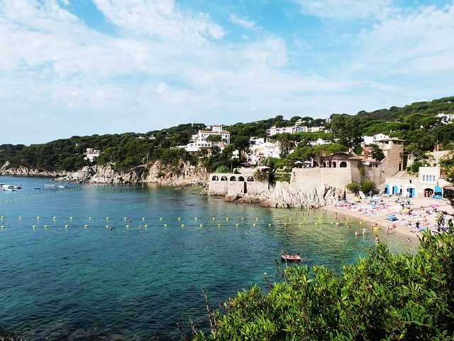 Just think. This Costa Brava beach isn't all that far from bustling Barcelona!