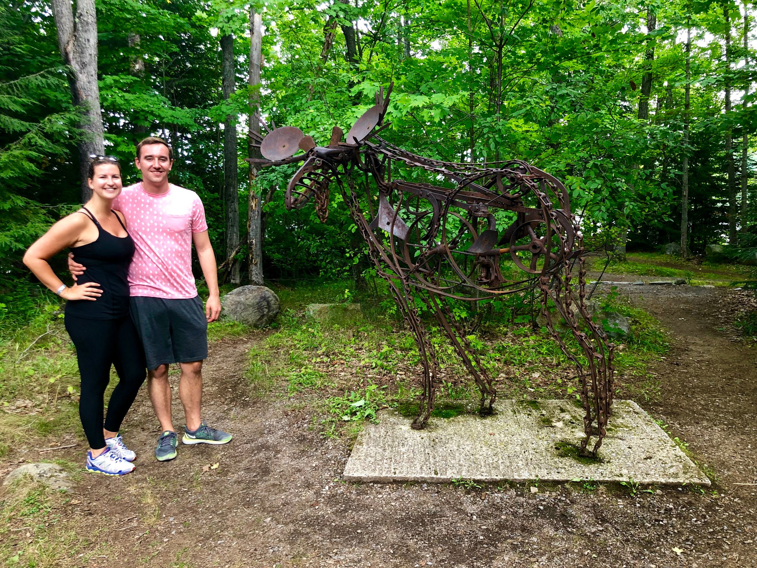 Haliburton Sculpture Forest in Glebe Park in Haliburton, Ontario
